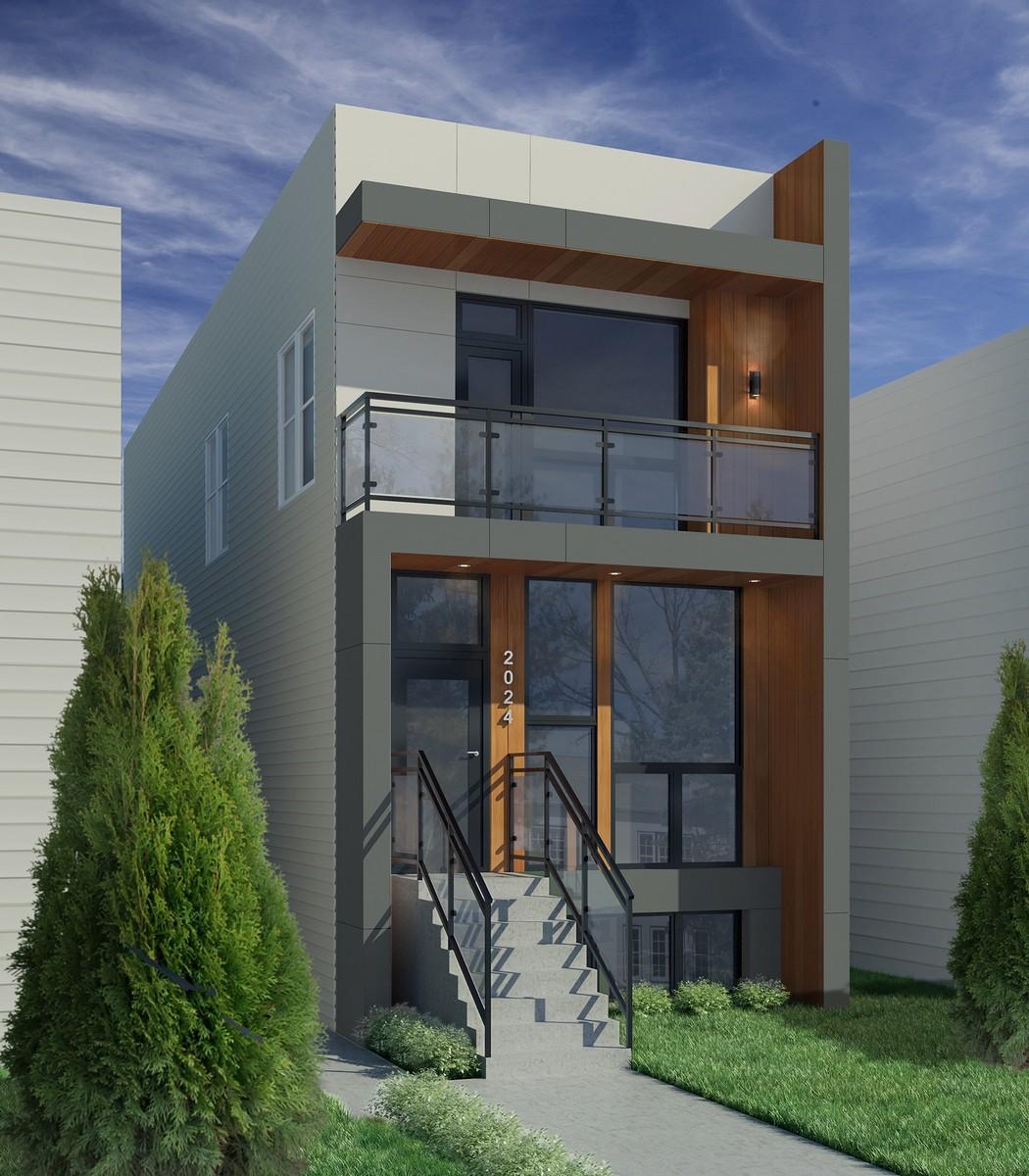 Maison unifamiliale pour l Vente à New Construction in Palmer Square 2024 N Whipple Street Logan Square, Chicago, Illinois, 60647 États-Unis