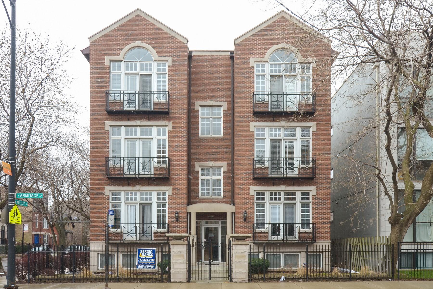 дуплекс для того Продажа на Super Sunny Bucktown Duplex 1901 W Armitage Avenue Unit 1E Logan Square, Chicago, Иллинойс, 60622 Соединенные Штаты