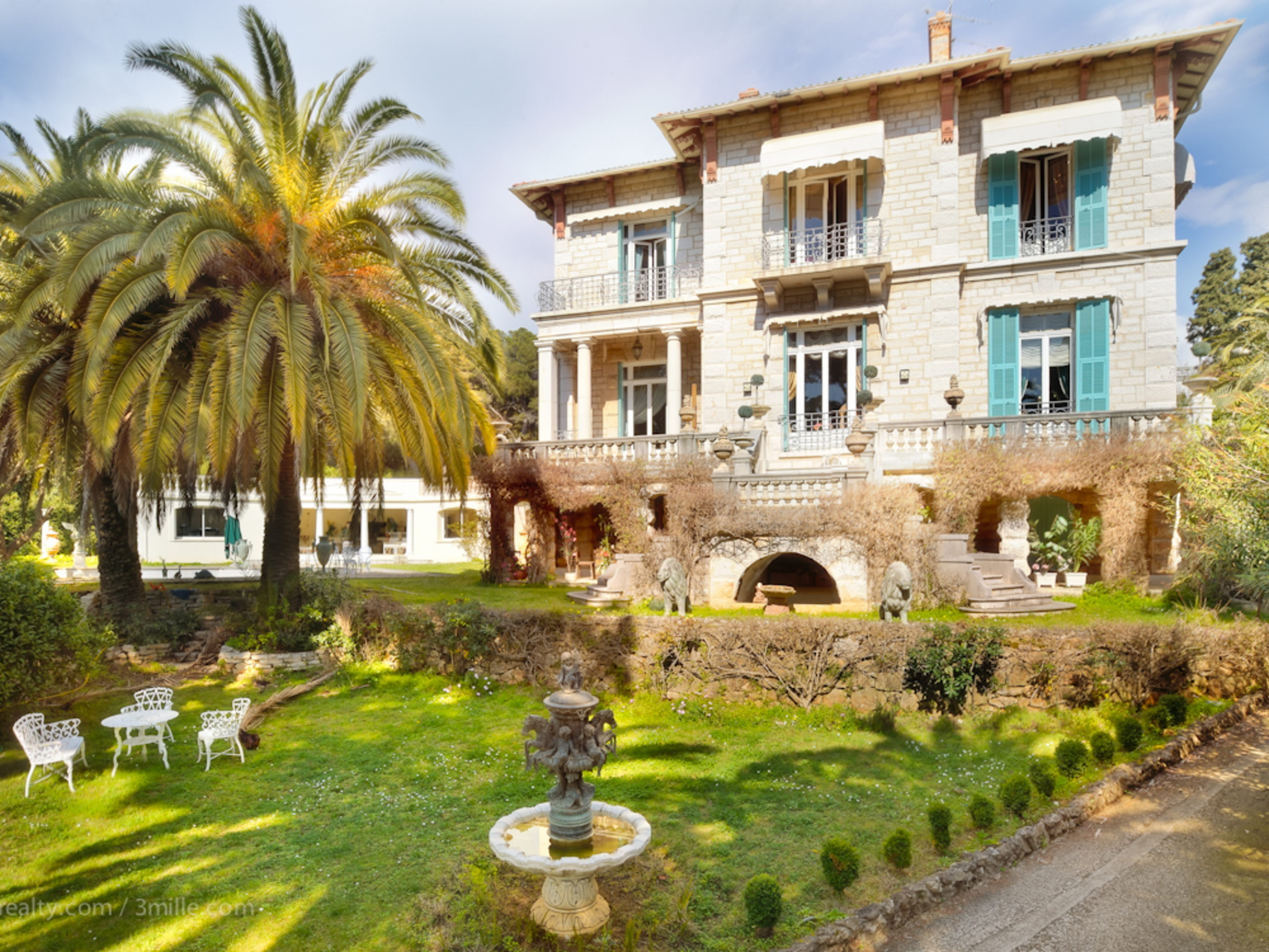 Property For Sale at Beautiful Stone Villa with 15 rooms, late 19th Century, Cap Martin