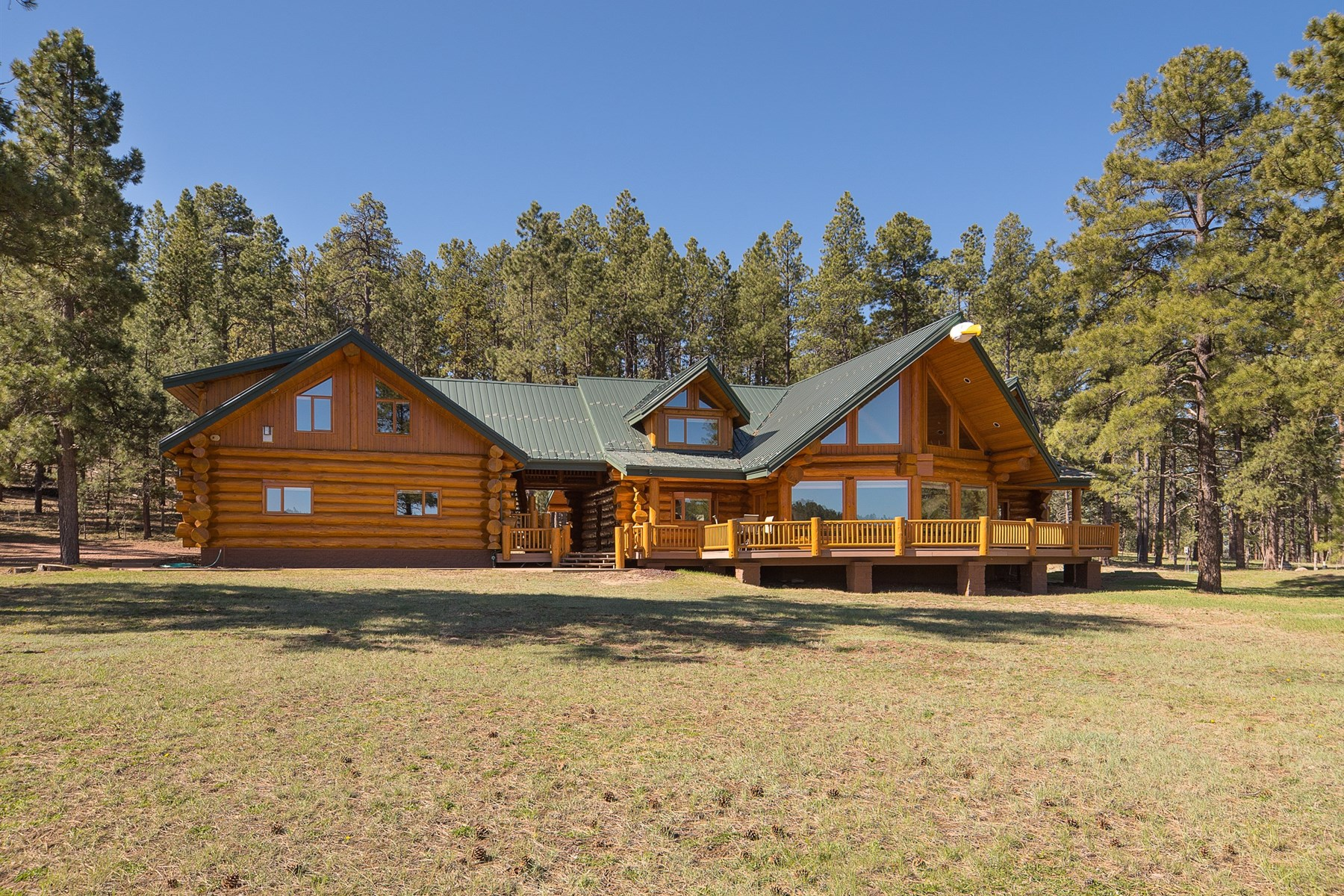 sales property at Phenomenal custom hand built Pioneer Log Home.