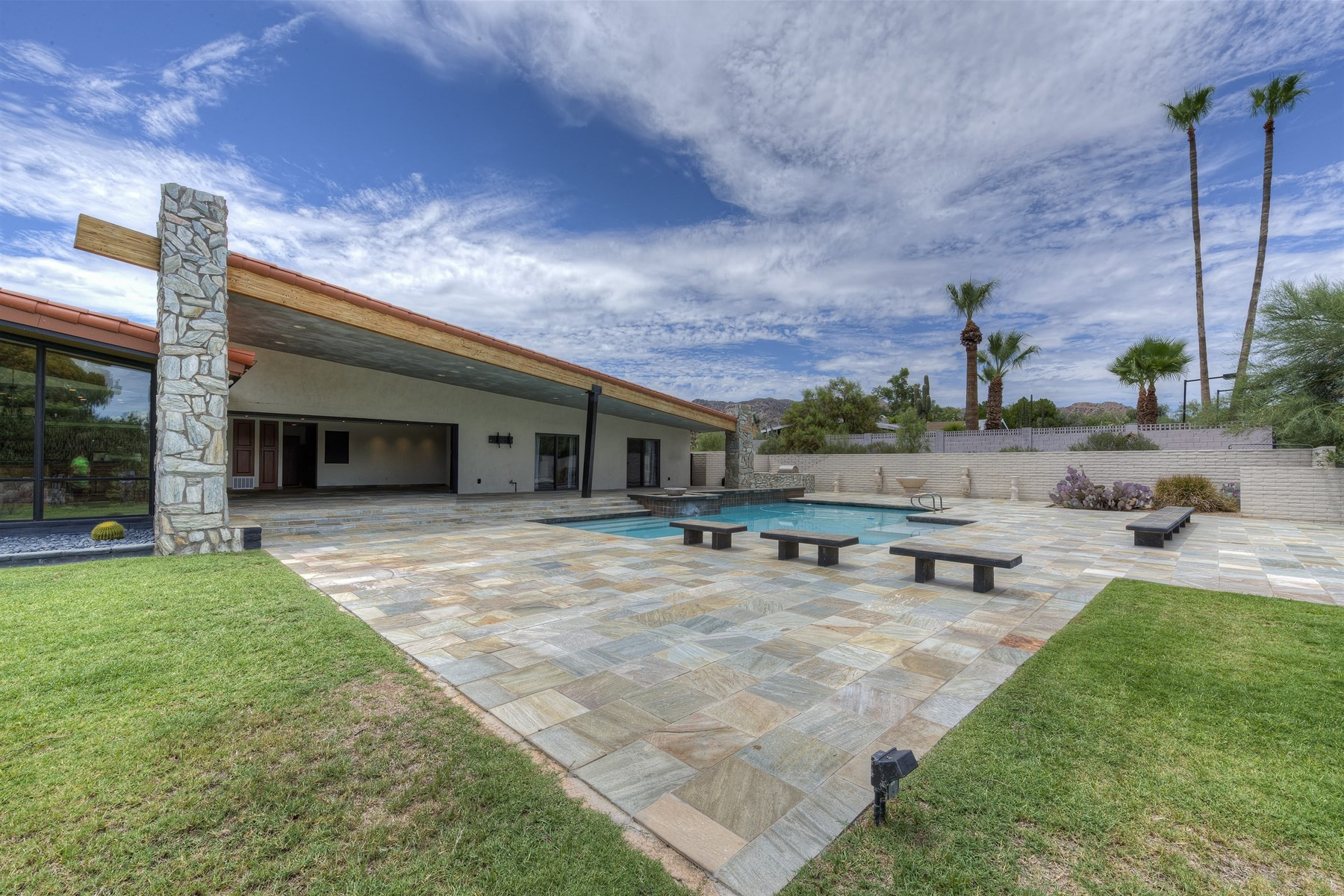 rentals property at Sprawling Mid-Century Modern Paradise Valley home