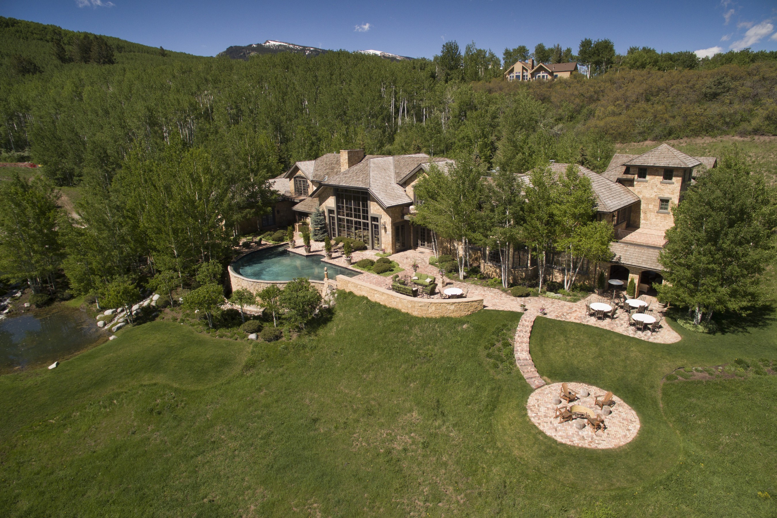 Single Family Home for Sale at Exclusive Owl Creek - 18,000 Sq Ft Estate - Location, Location, Location 170 Clay Lane West Aspen, Aspen, Colorado, 81611 United States