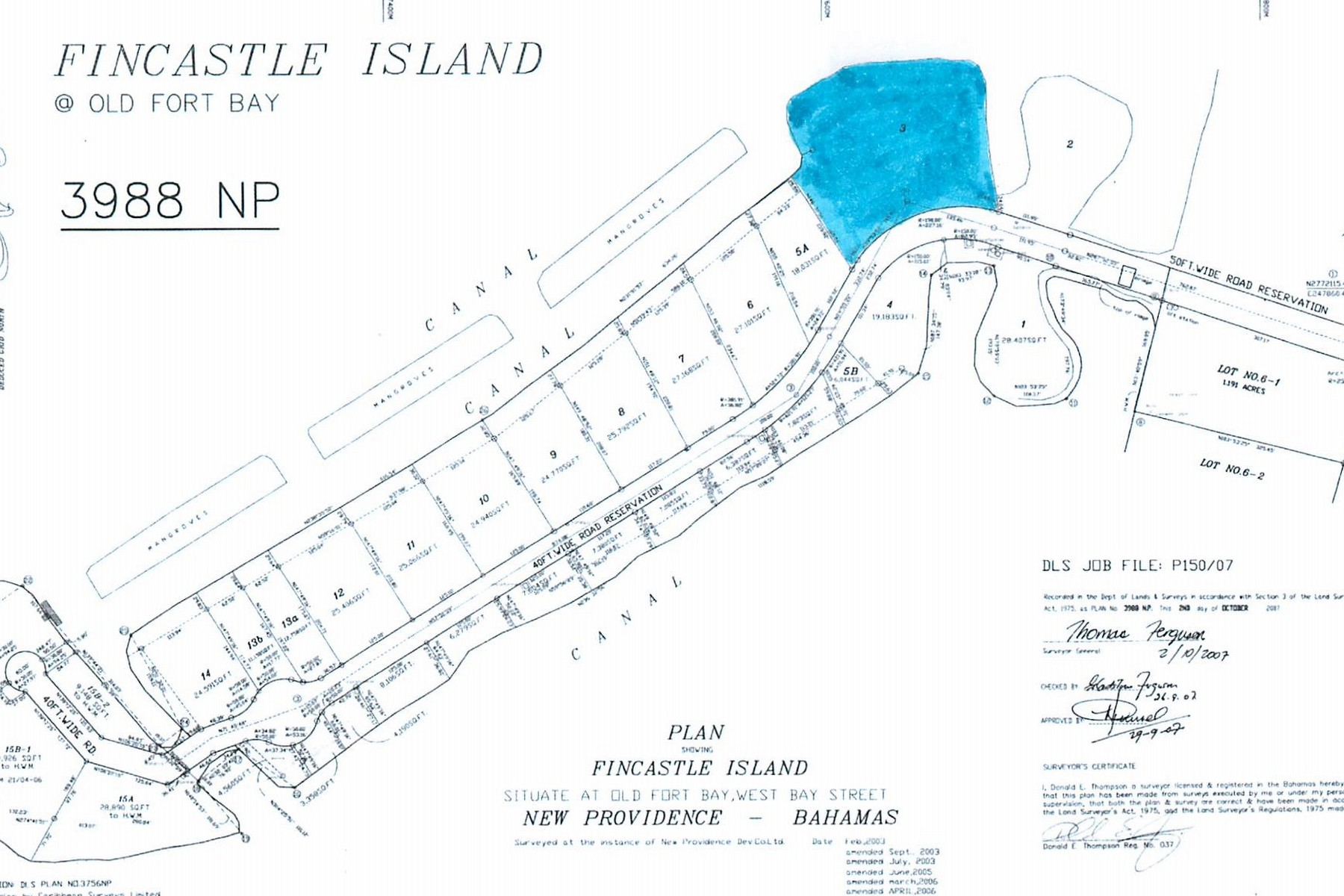 Additional photo for property listing at Fincastle Island Lot Old Fort Bay, New Providence/Nassau Bahamas