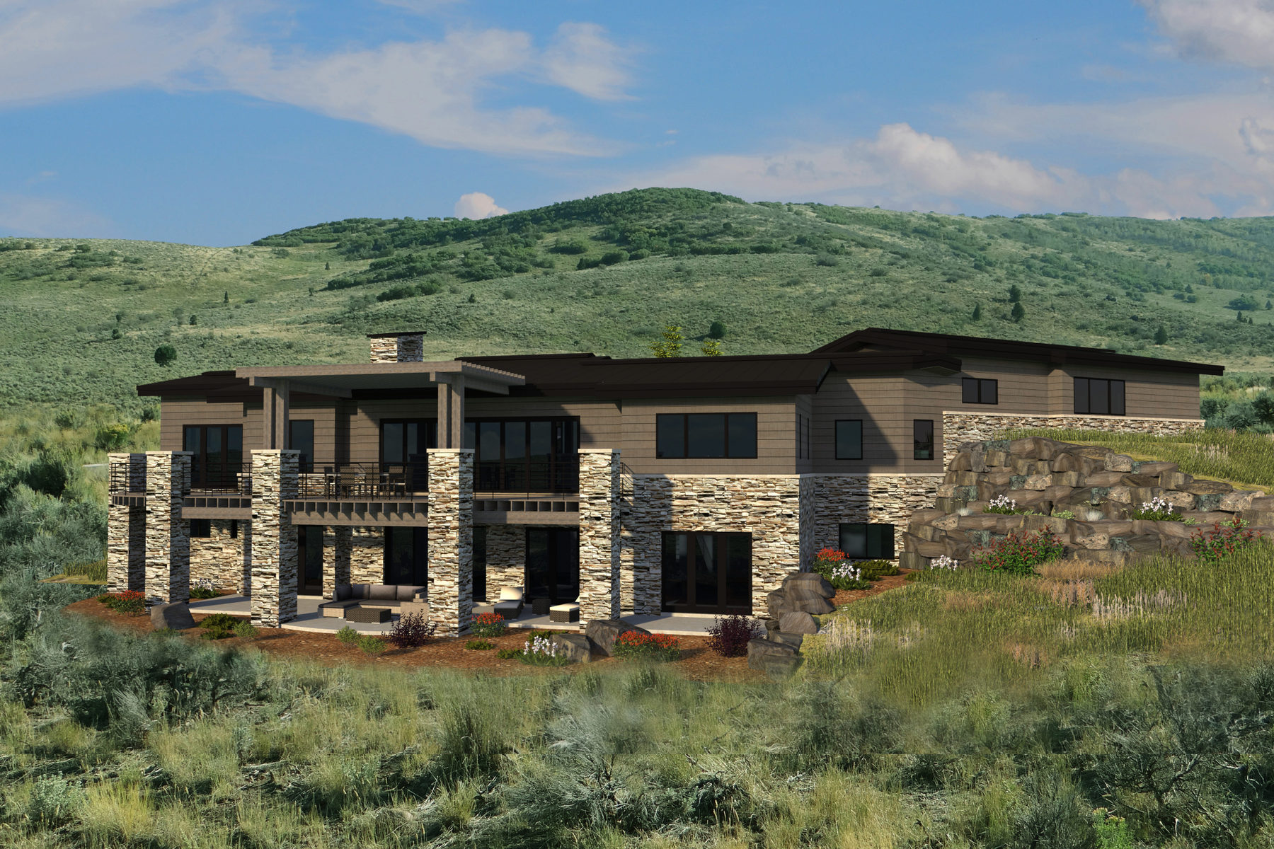 Maison unifamiliale pour l Vente à New Construction Mountain Modern meets the Western Dream 5950 Caddis Cir Heber City, Utah 84032 États-Unis