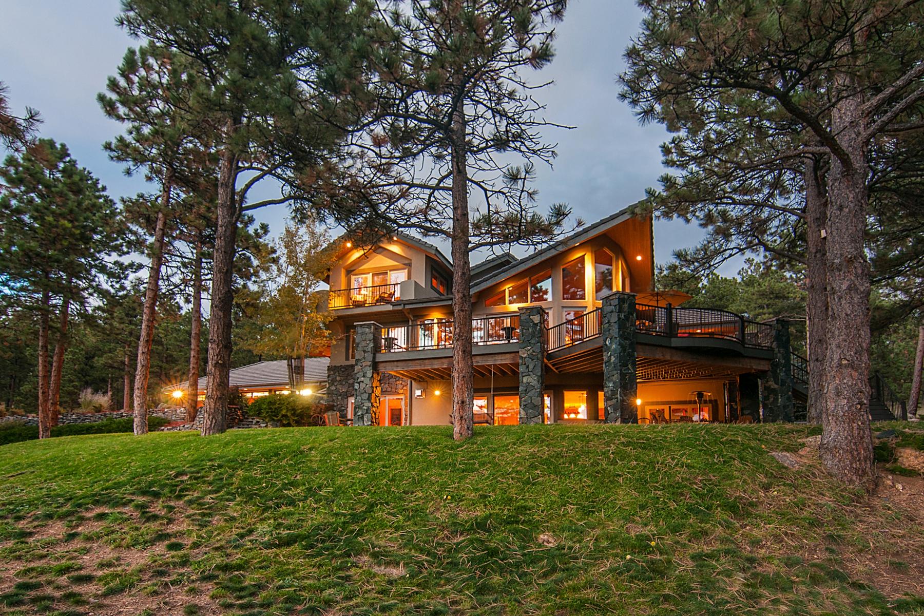 Частный односемейный дом для того Продажа на 1912 Sugarbush Drive Evergreen, Колорадо, 80439 Соединенные Штаты