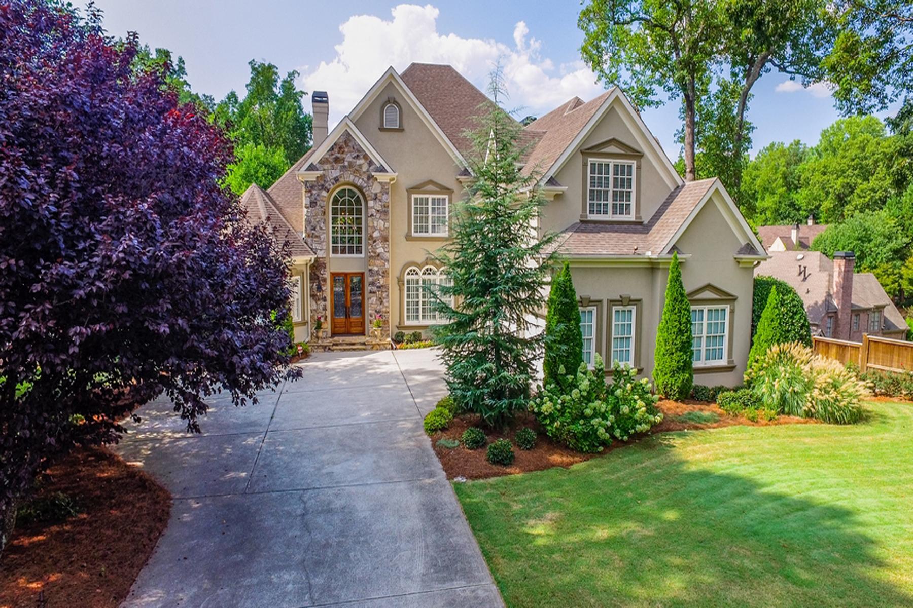 Moradia para Venda às Sandy Springs Home On 1.43 Acres With Finished Basement And Pool 385 Mount Paran Road Atlanta, Geórgia, 30327 Estados Unidos