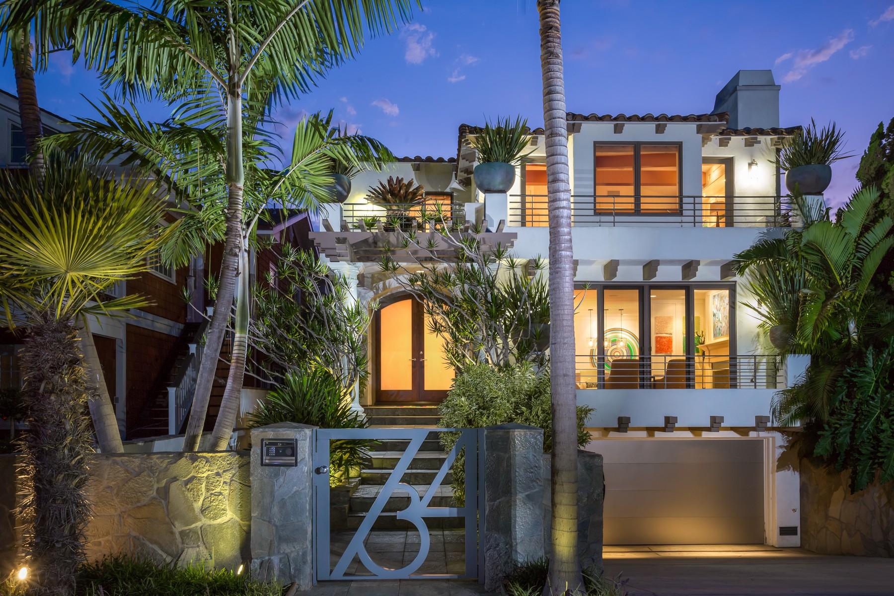 Частный односемейный дом для того Продажа на 734 Glorietta Boulevard Coronado, Калифорния 92118 Соединенные Штаты