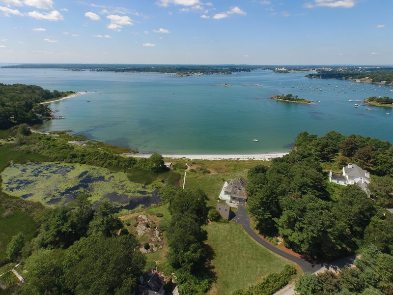 Single Family Home for Sale at Gerrish Island Waterfront Residence with 180-degree views of Portsmouth Harbor 15 Captains Way Kittery Point, Maine 03905 United States