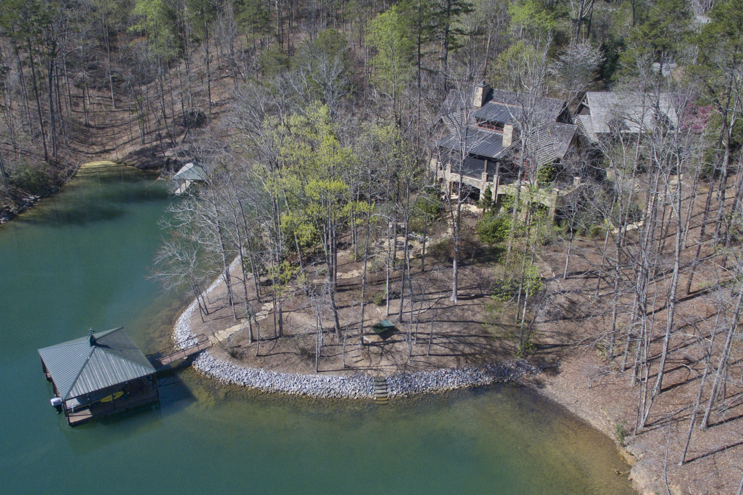 Single Family Home for Sale at Charm, Comfort, Convenience & Privacy on 2.44 acre Double-Lot Waterfront Estate 214 Creek Stone Court The Cliffs At Keowee Springs, Six Mile, South Carolina, 29682 United States