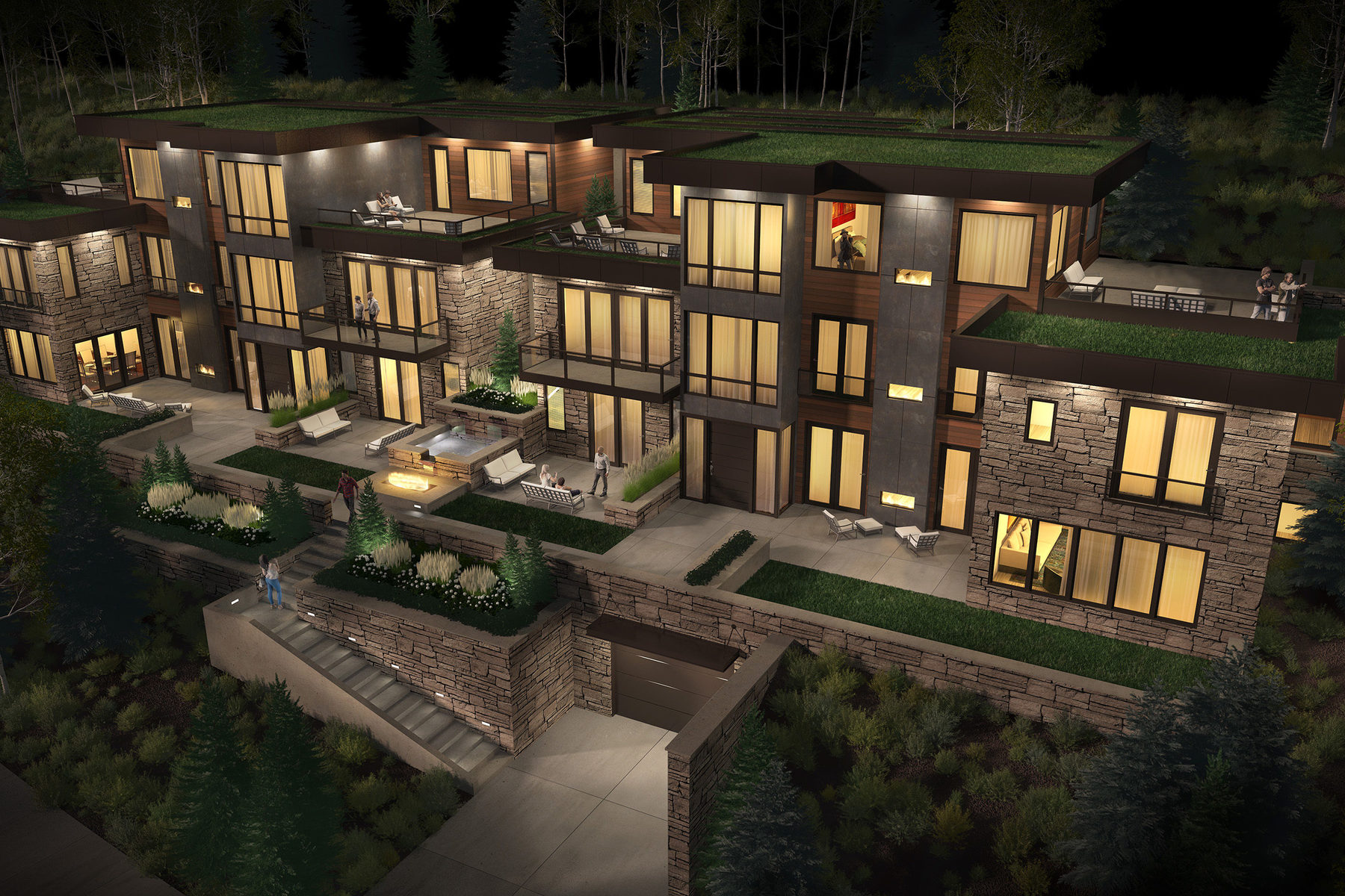 Appartement en copropriété pour l Vente à New Contemporary Construction in Old Town 300 Deer Valley Loop #B Park City, Utah, 84060 États-Unis
