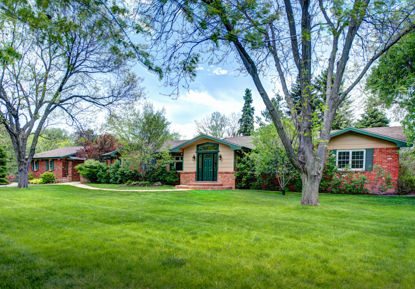 Single Family Home for Sale at Sprawling Brick Ranch on Nearly an Acre in Old Cherry Hills 23 South Lane Cherry Hills Village, Colorado, 80113 United States
