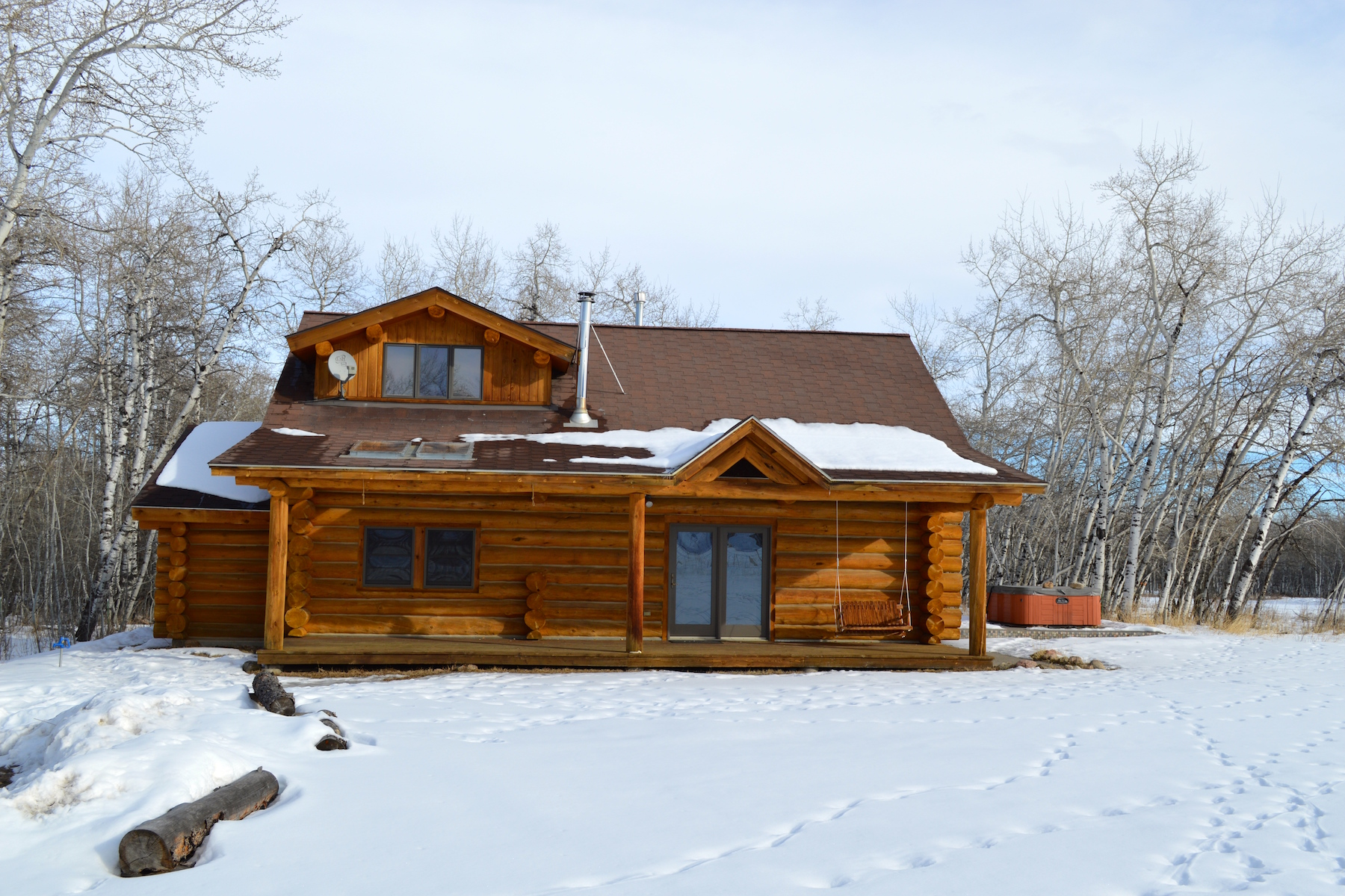 Property For Sale at Beautiful Log Cabin and Guest House