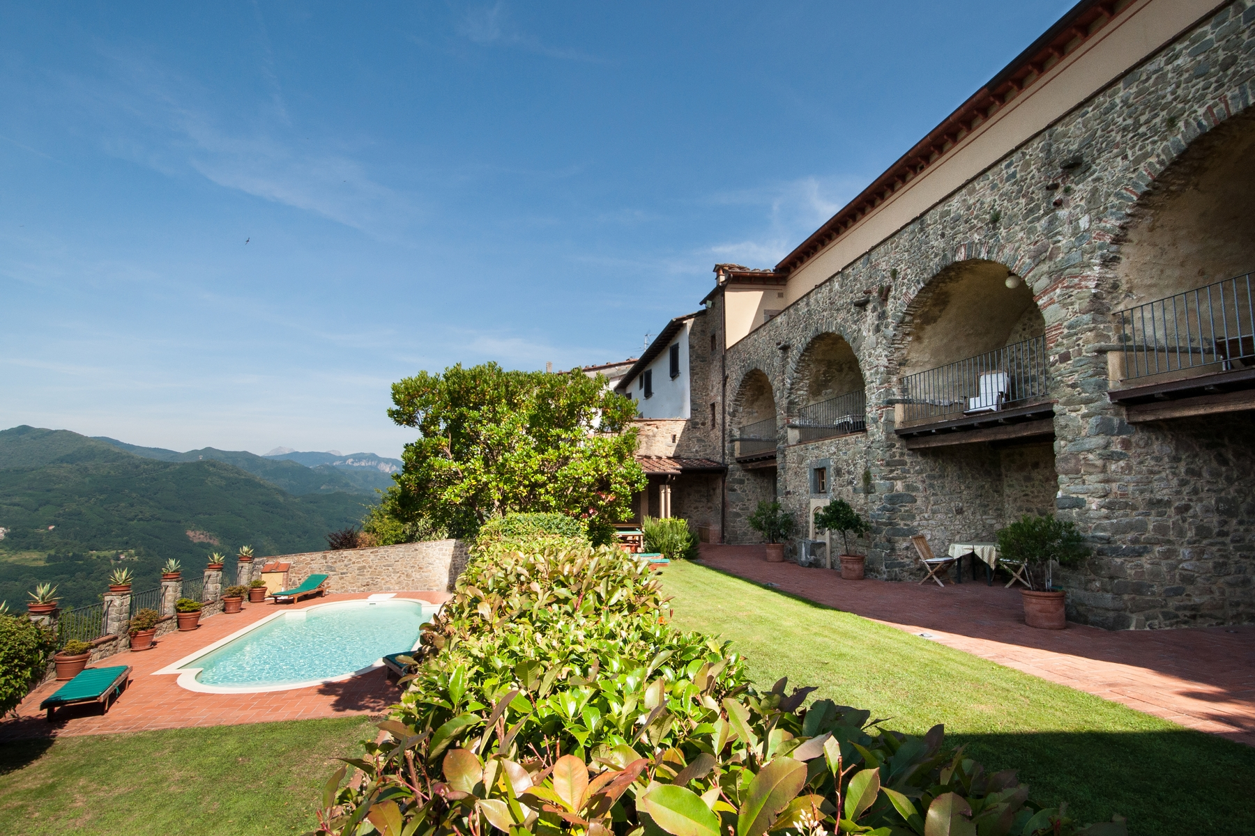 Multi-Family Home for Sale at Timeless property with view Lugliano Bagni Di Lucca, 55011 Italy