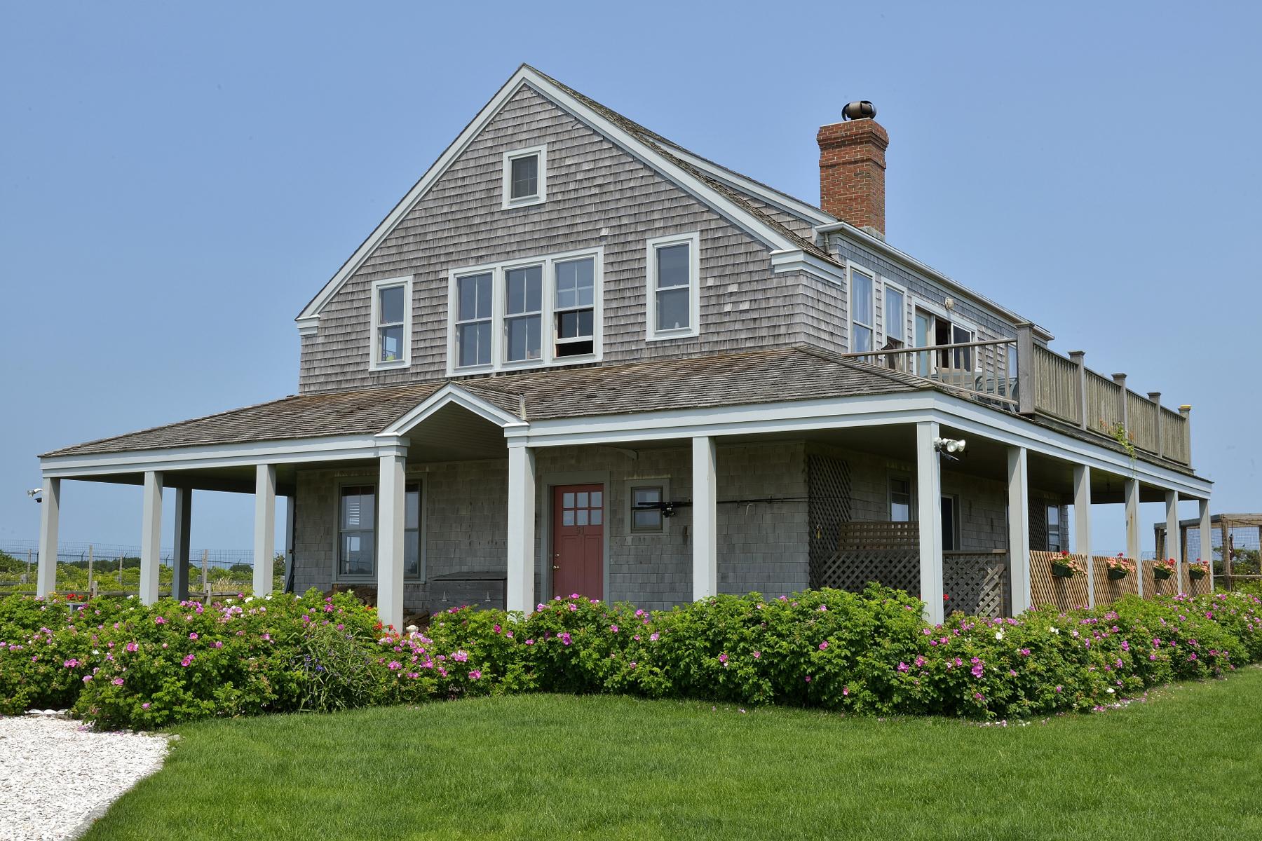 Casa Unifamiliar por un Venta en Magical Ocean Views 51 Madequecham Valley Road Nantucket, Massachusetts 02554 Estados Unidos