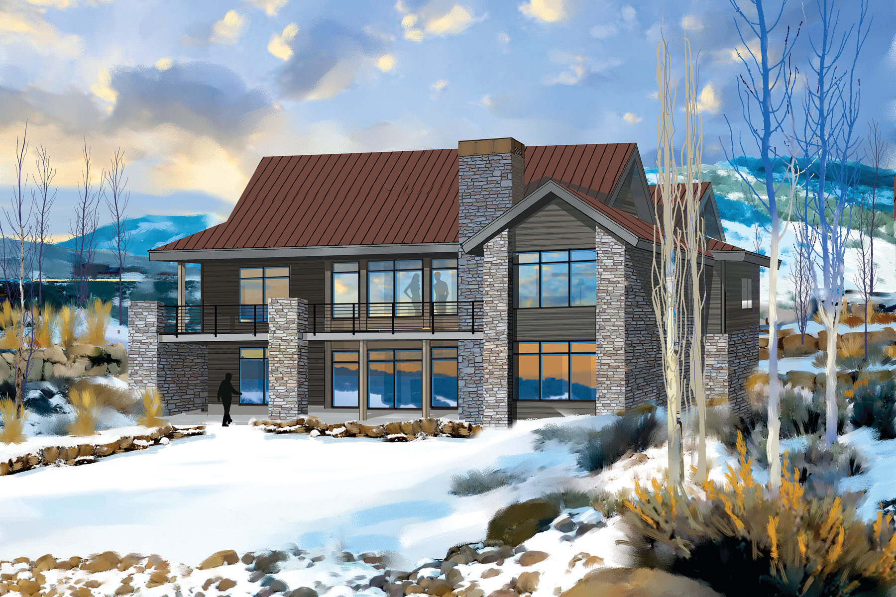 Maison unifamiliale pour l Vente à New Nicklaus Golf Cabin Promontory 6533 Golden Bear Loop West Park City, Utah, 84098 États-Unis