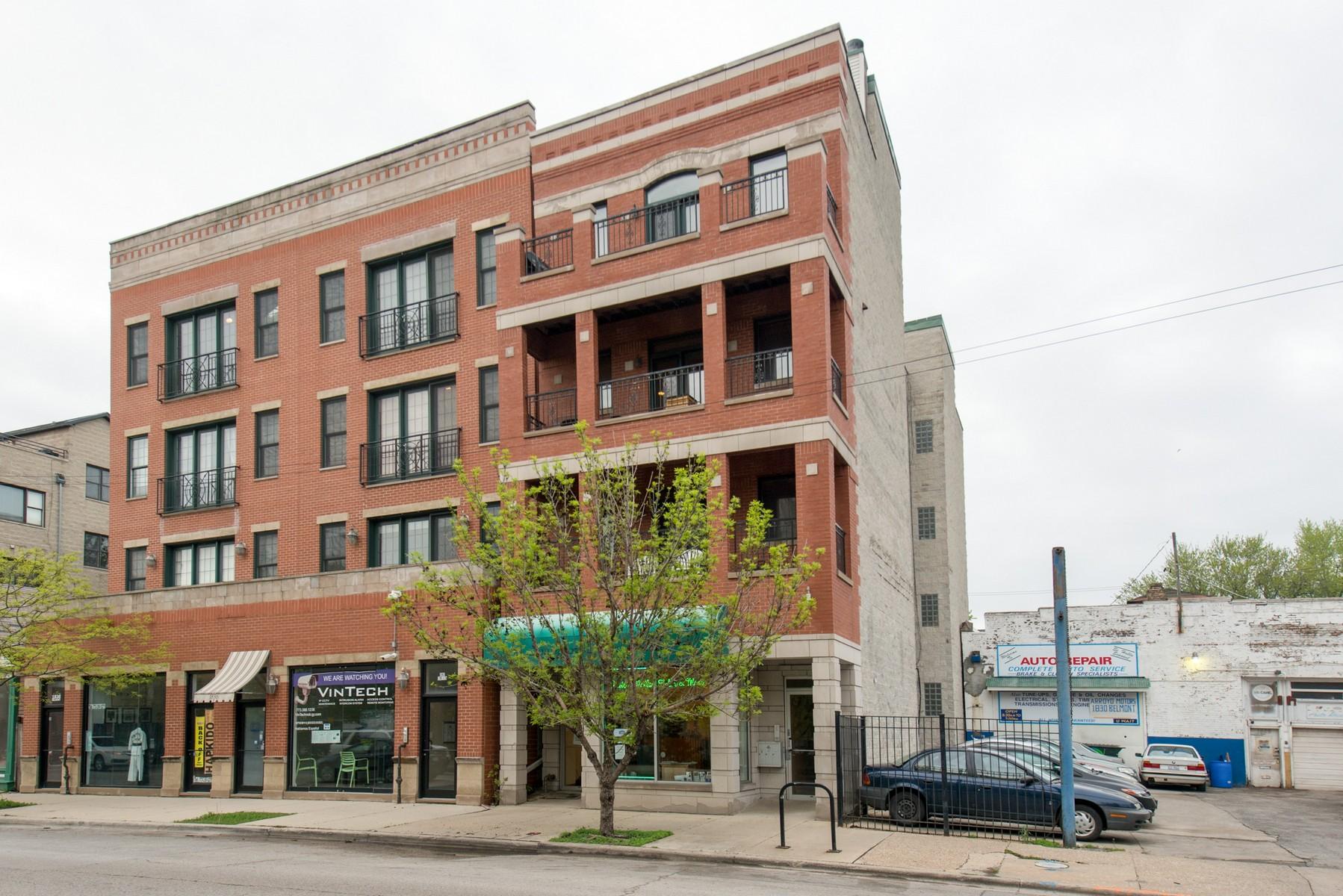 단독 가정 주택 용 매매 에 Spectacular Penthouse 1832 W Belmont Avenue Unit 4 North Center, Chicago, 일리노이즈, 60657 미국