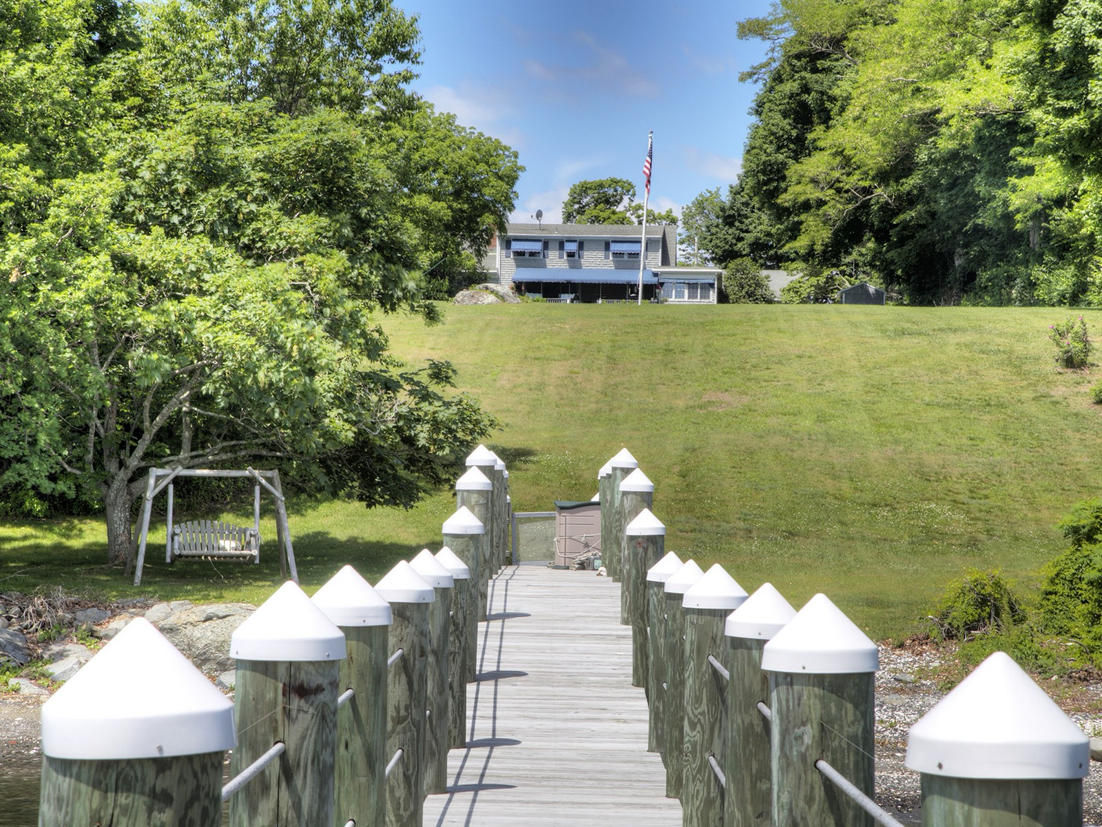 Single Family Home for Sale at Waterfront Colonial-Cape 457 Poppasquash Rd Bristol, Rhode Island 02809 United States