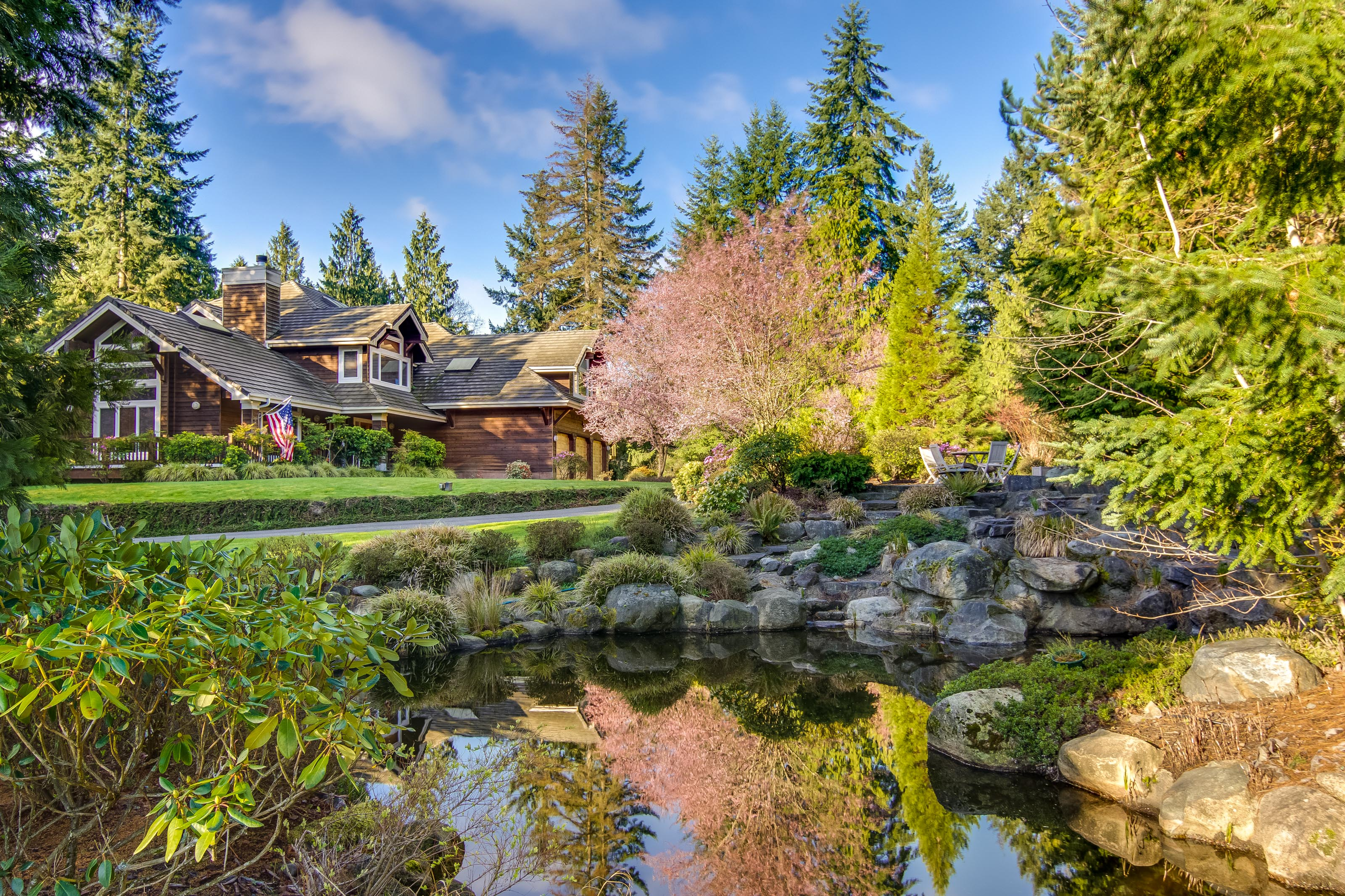 Single Family Home for Sale at Stunning Northwest Lodge 10199 Affirmed Lane NE Bainbridge Island, Washington 98110 United States