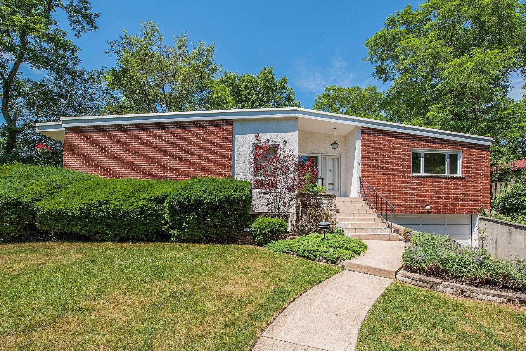 Tek Ailelik Ev için Satış at Mid-Century Contemporary Home 416 Maple Street Winnetka, Illinois, 60093 Amerika Birleşik Devletleri