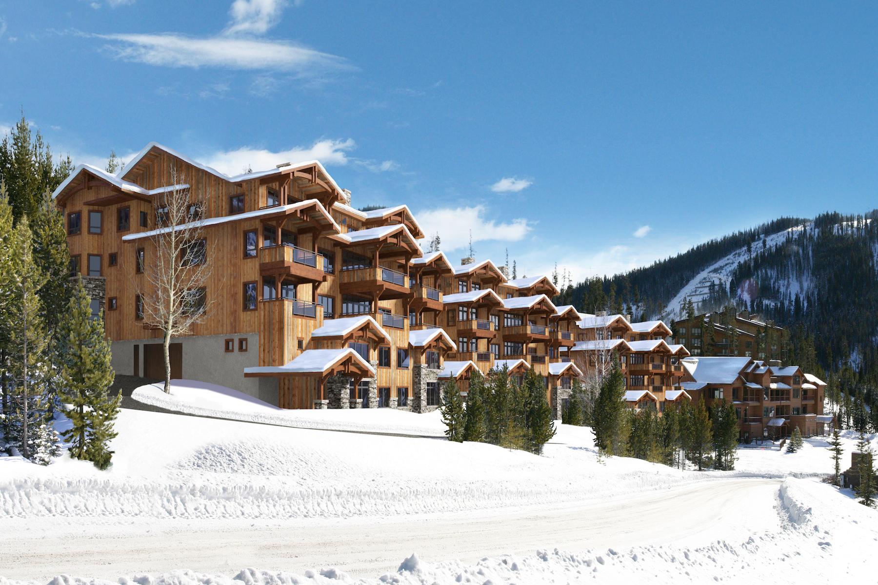 Кооперативная квартира для того Продажа на New Construction Mountain Lake Condo 2 Summit View Road Unit 502 Big Sky, Монтана 59716 Соединенные Штаты