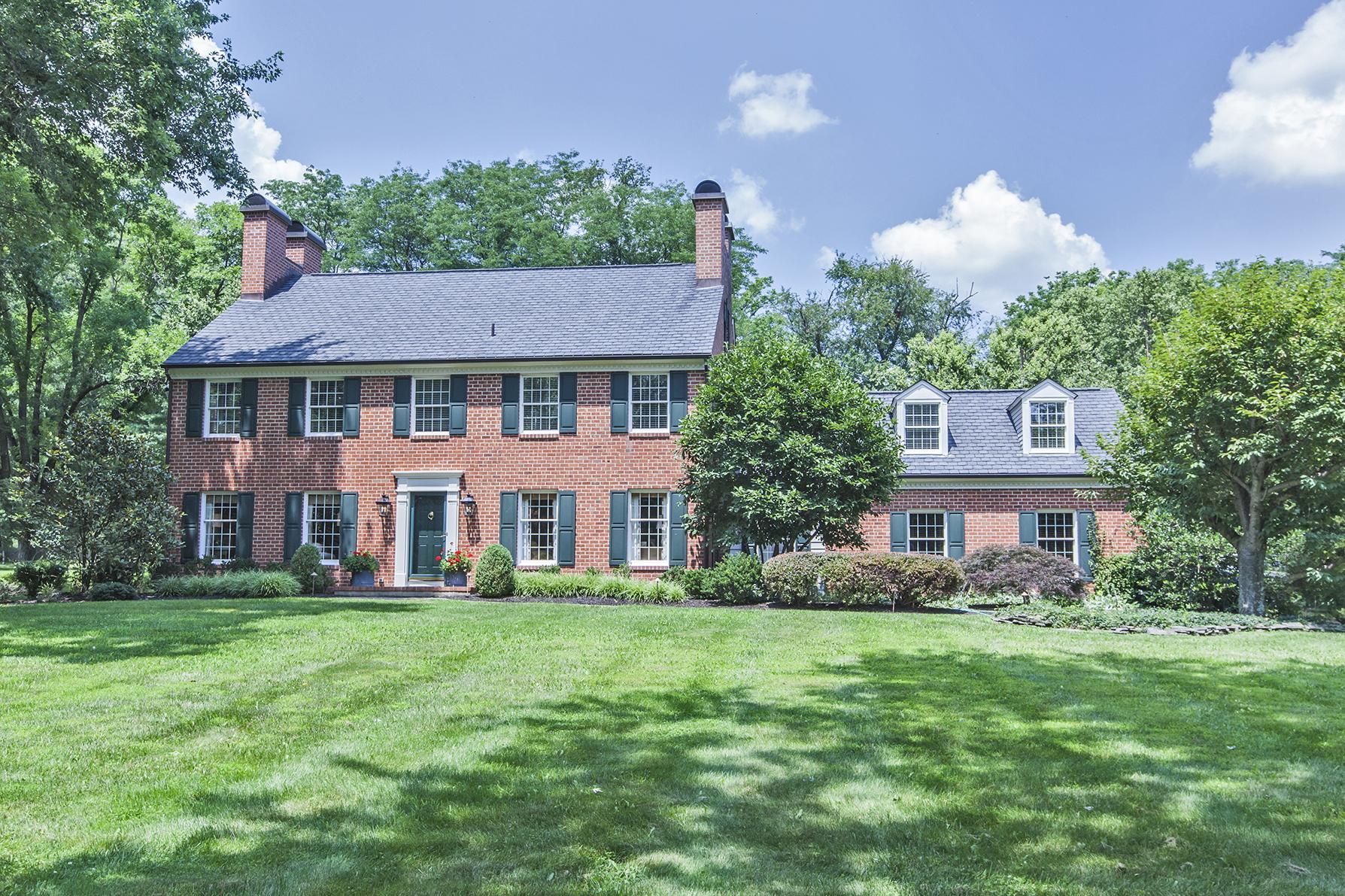 Частный односемейный дом для того Продажа на A Statement Of Style - Hopewell Township 22 Arvida Drive Pennington, 08534 Соединенные Штаты