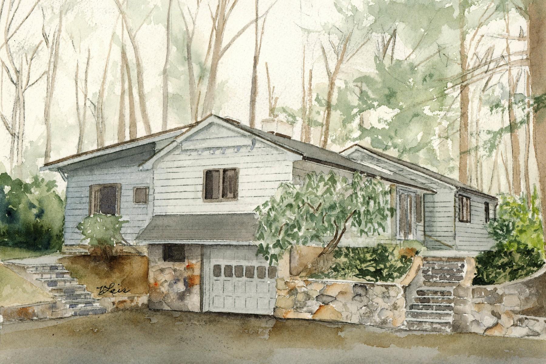 단독 가정 주택 용 매매 에 Mid-Century Norman Rockwell 1441 West Old Logging Road Yorktown Heights, 뉴욕, 10598 미국