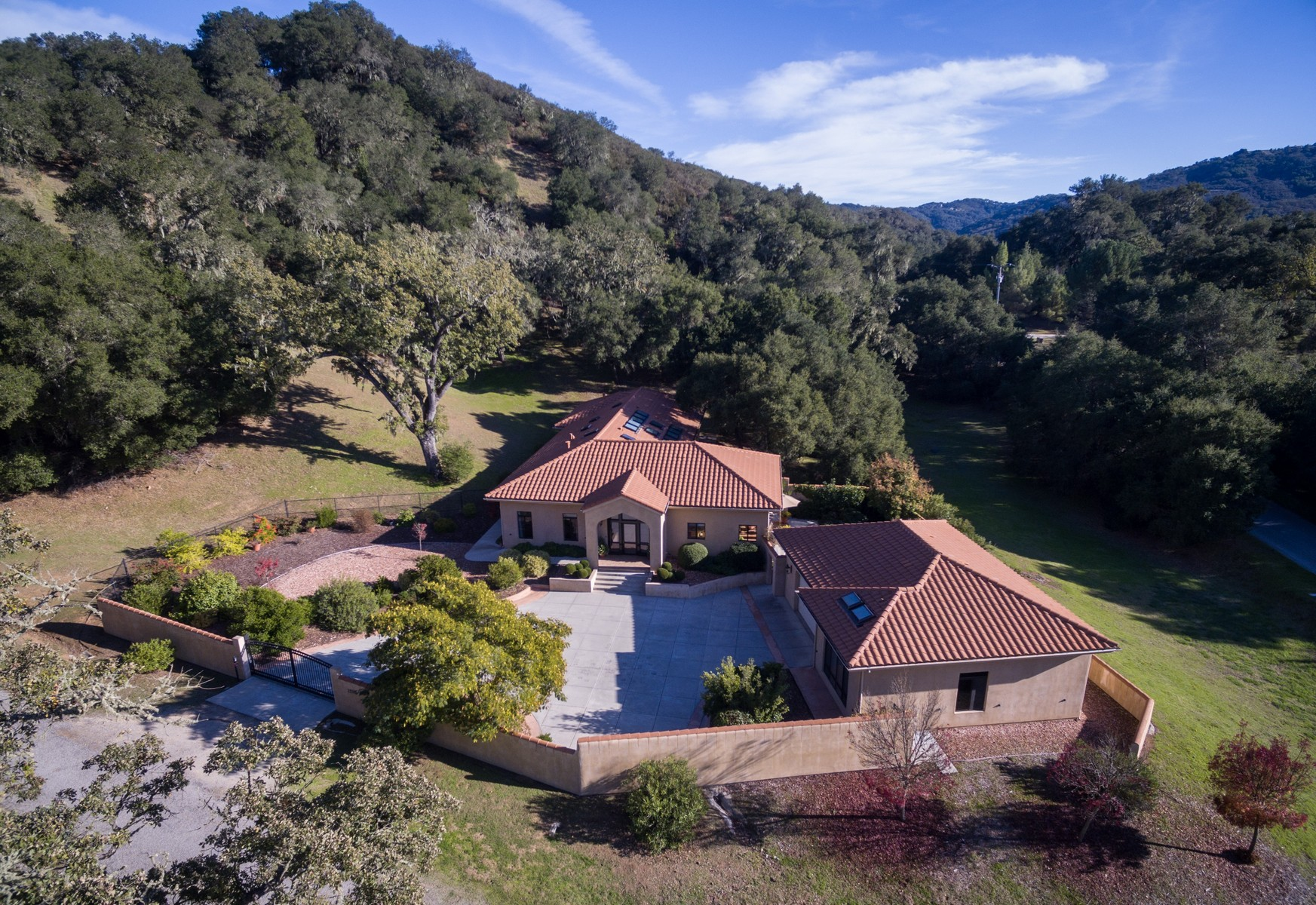 Single Family Home for Sale at Privately Gated Mediterranean Style Estate 7205 Nudoso Rd Atascadero, California, 93422 United States