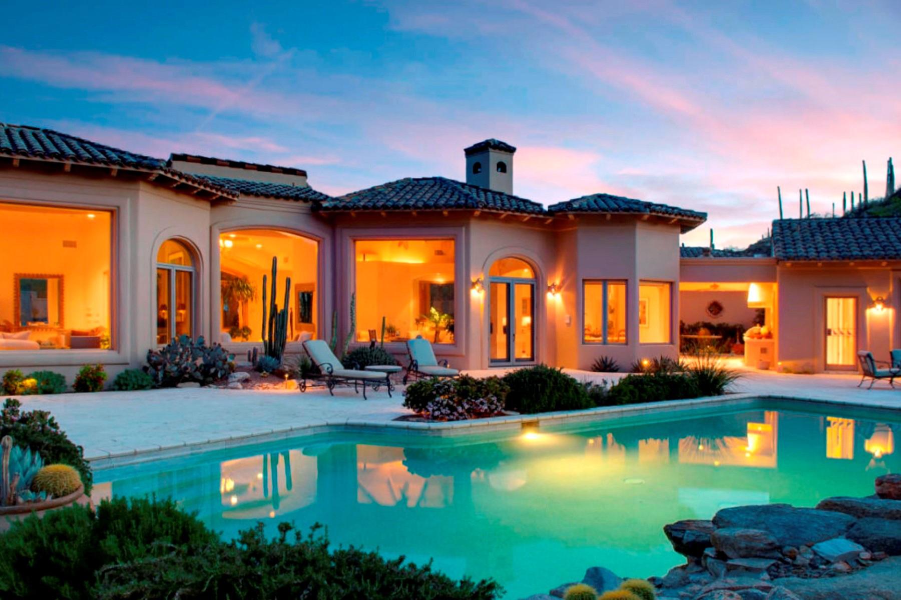 단독 가정 주택 용 매매 에 Elegant Mediterranean Style Estate 7391 N Finger Rock Place Tucson, 아리조나 85719 미국