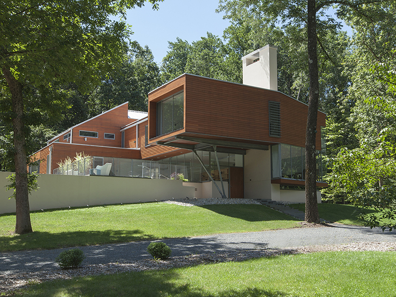 Single Family Home for Sale at Celebrated Modern Design Immersed In Nature 4565 Province Line Road Princeton, New Jersey 08540 United States