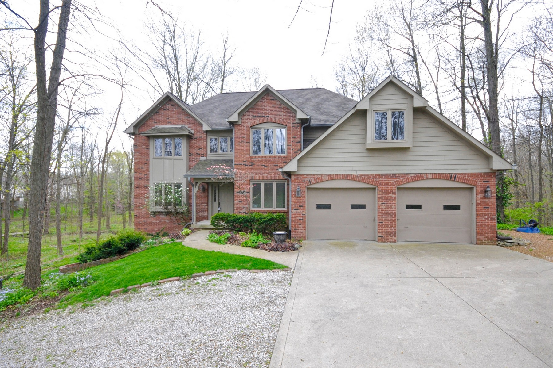 Single Family Home for Sale at Unique Woodland Estate 1345 W Smith Valley Road Greenwood, Indiana 46142 United States