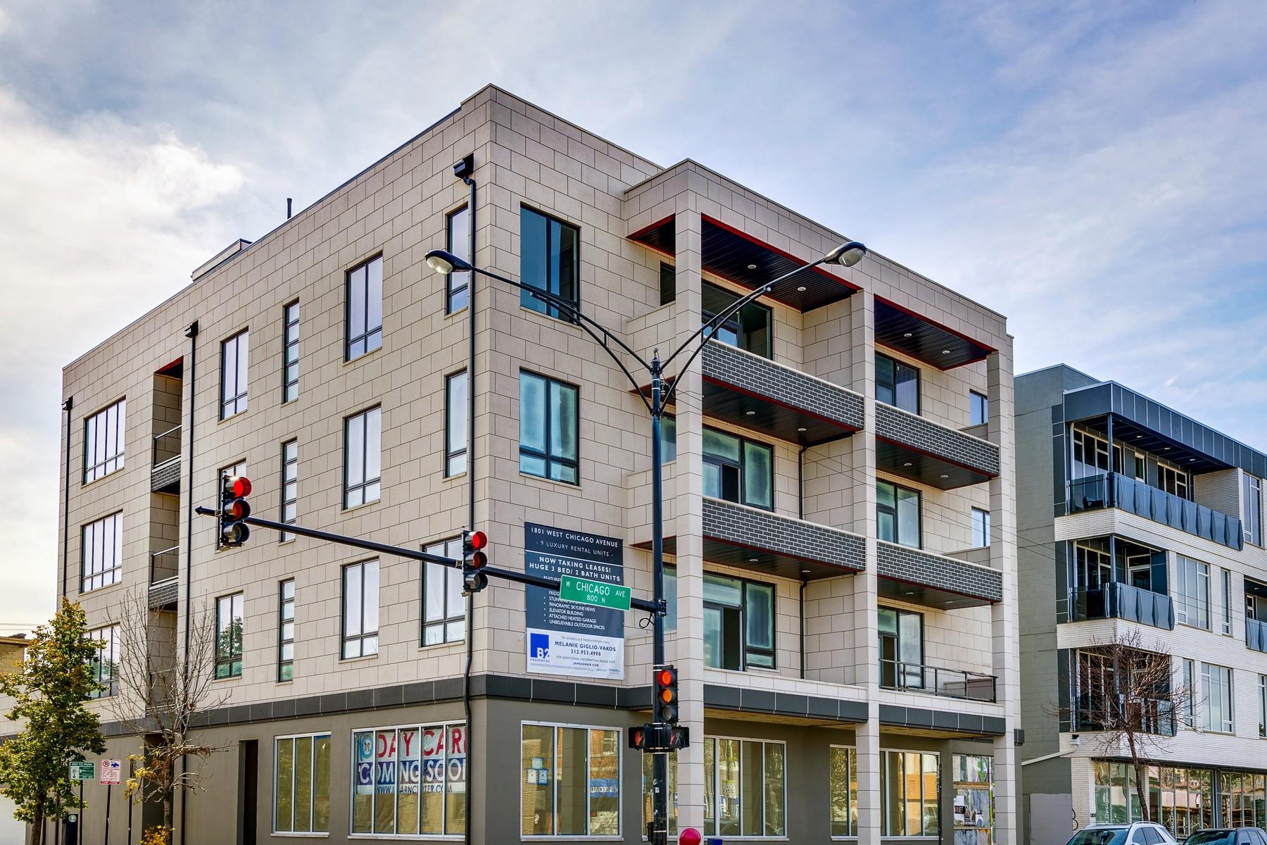 Condominio por un Venta en Stunning New Construction Home 1801 W Chicago Avenue Unit 2S West Town, Chicago, Illinois 60622 Estados Unidos