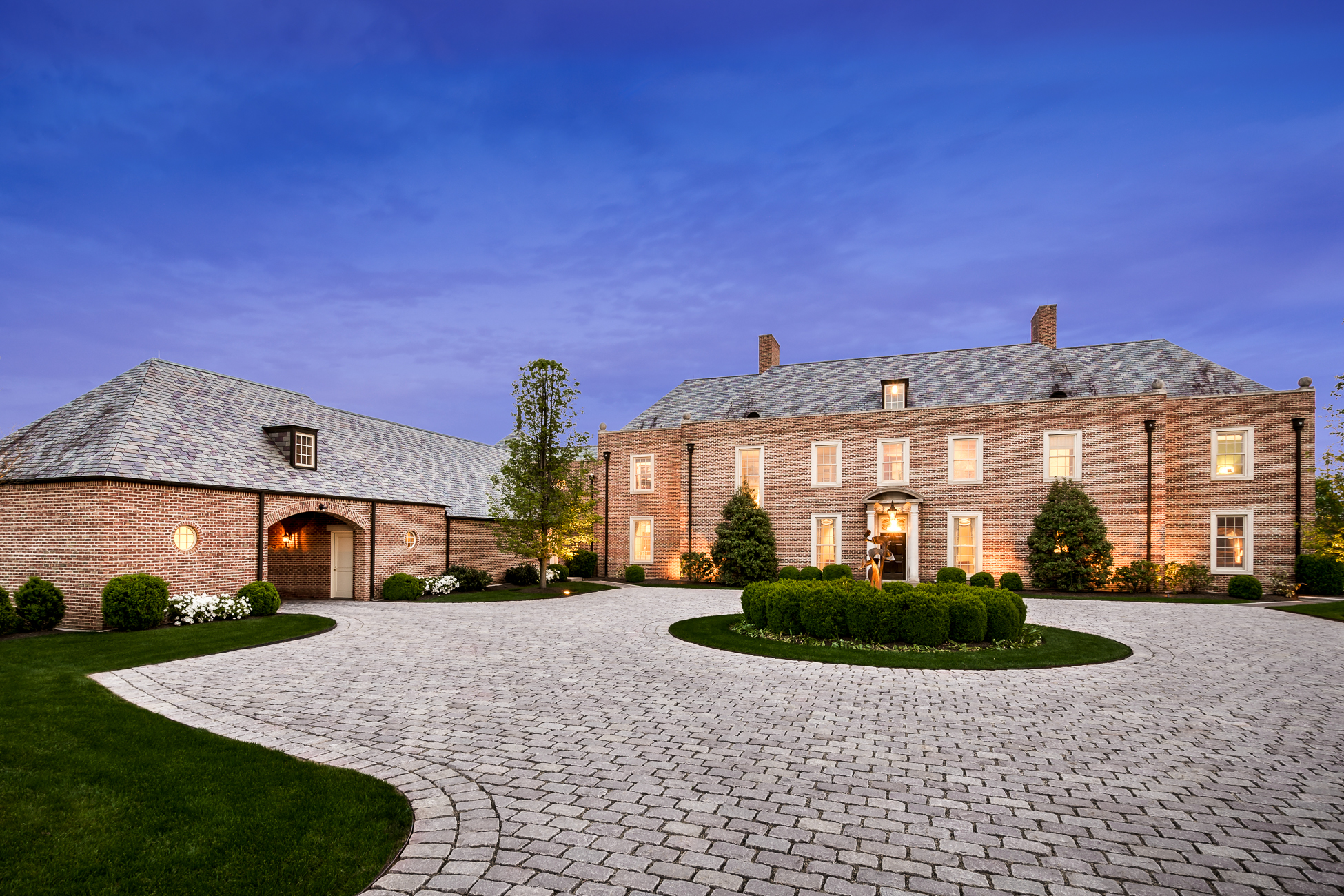 Maison unifamiliale pour l Vente à An Extraordinary Georgian Estate, 5 Miles from Princeton - Hopewell Township 88 Elm Ridge Road Princeton, New Jersey 08540 États-Unis
