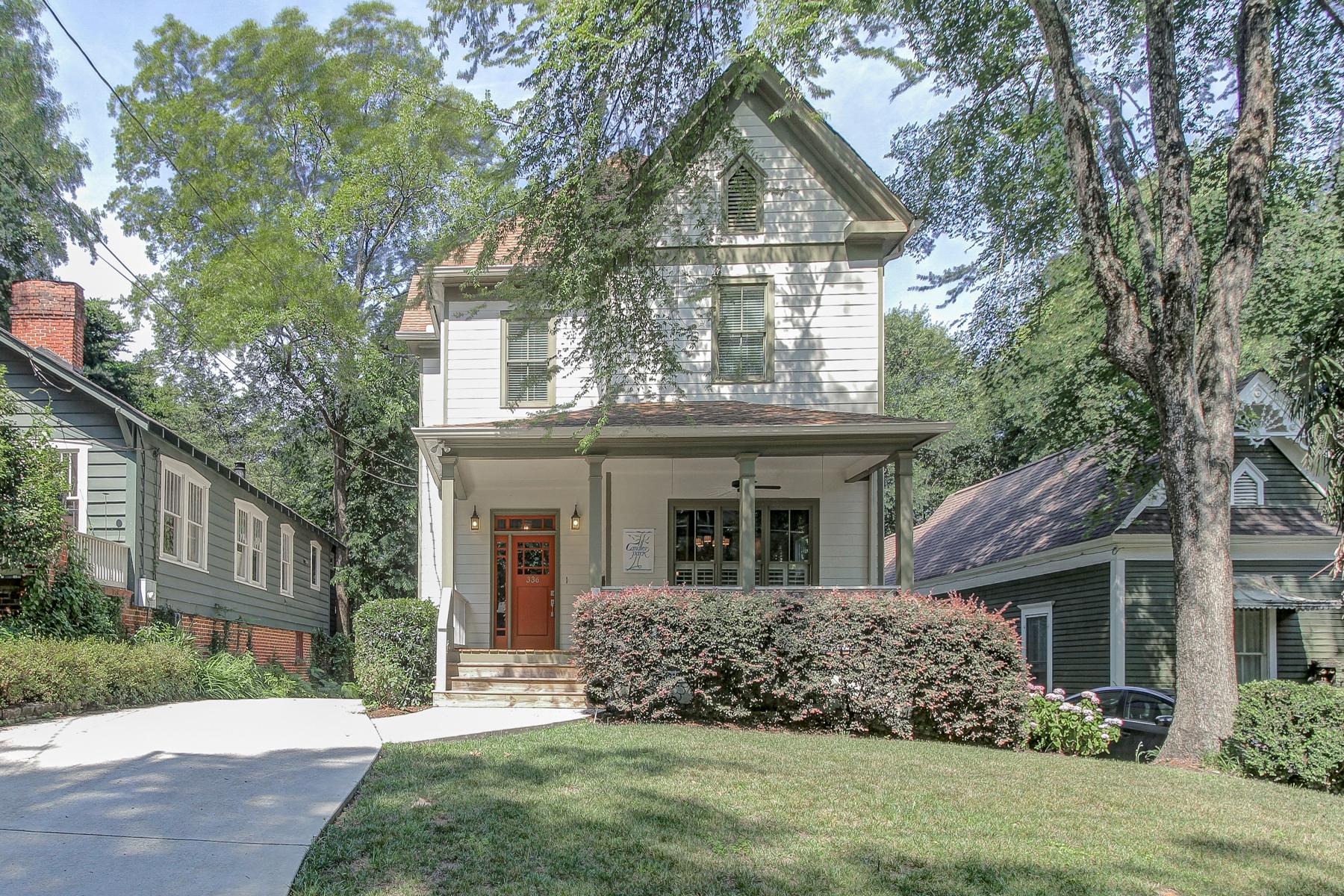 Частный односемейный дом для того Продажа на Historic Inspired Home With Modern Amenities 336 Candler Park Drive NE Candler Park, Atlanta, Джорджия, 30307 Соединенные Штаты