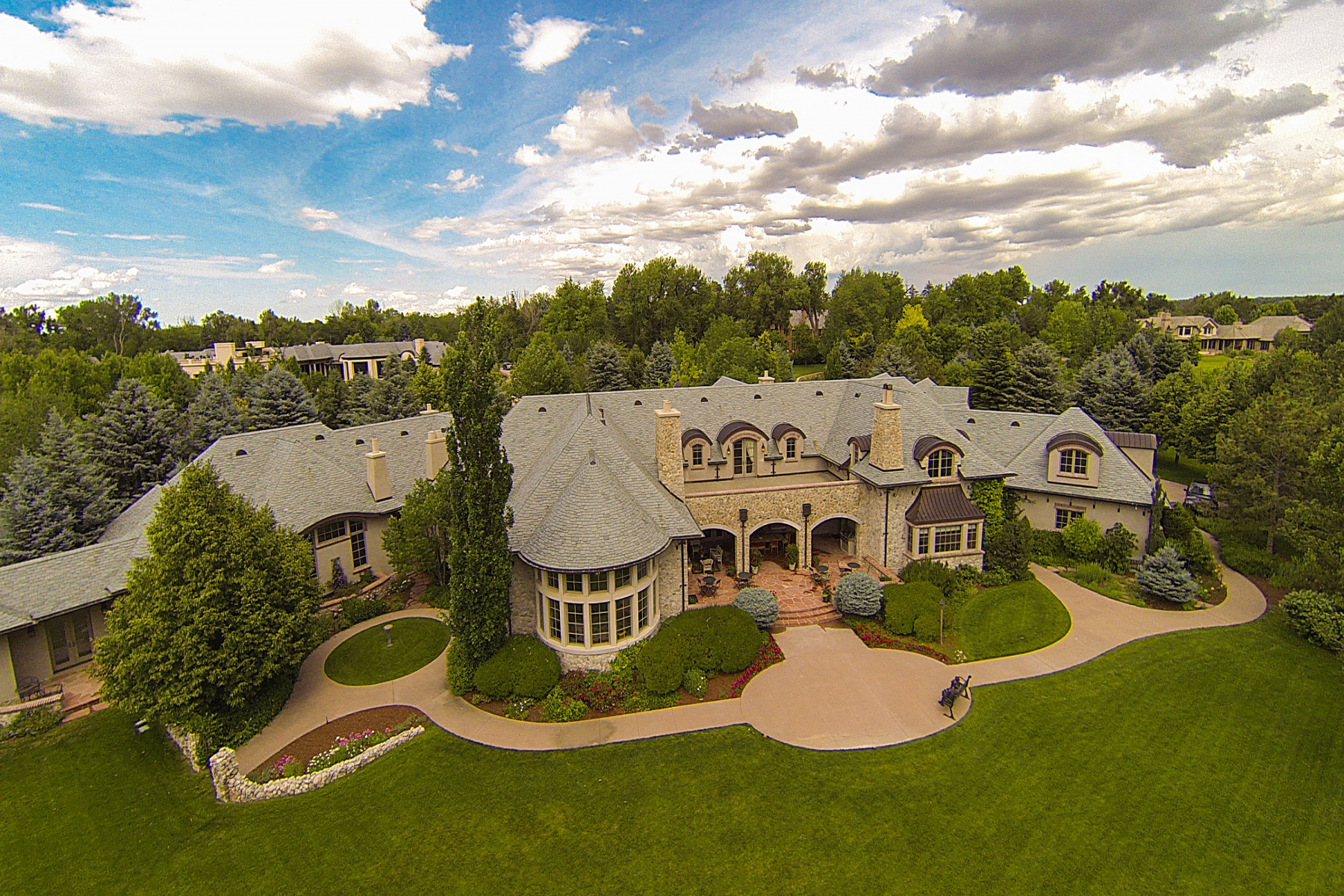 Single Family Home for Sale at Greystone Manor Boasts Spectacular Mountain Views 22 Cherry Hills Park Drive Cherry Hills Village, Colorado, 80113 United States