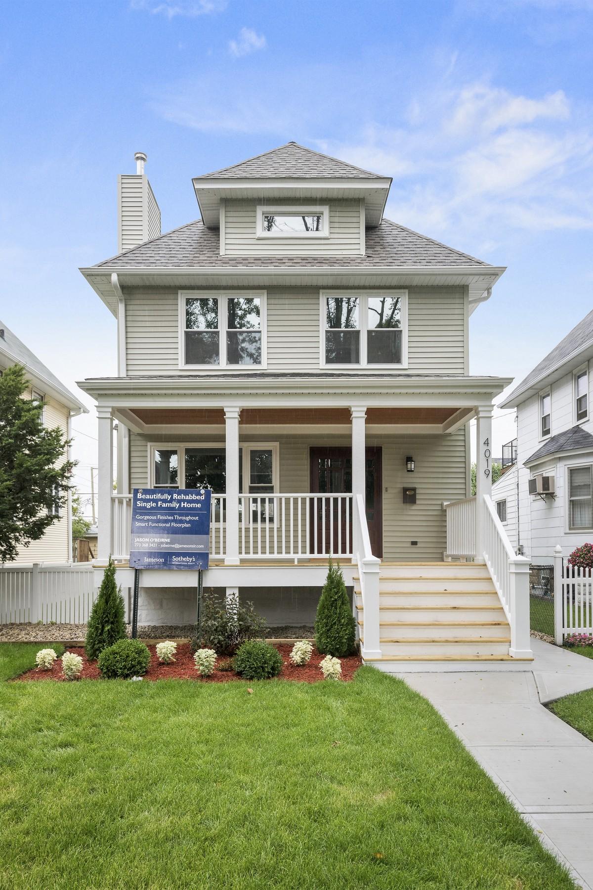 一戸建て のために 売買 アット Fully Rehabbed On Wide Lot In Old Irving 4019 W Waveland Avenue Chicago, イリノイ 60641 アメリカ合衆国