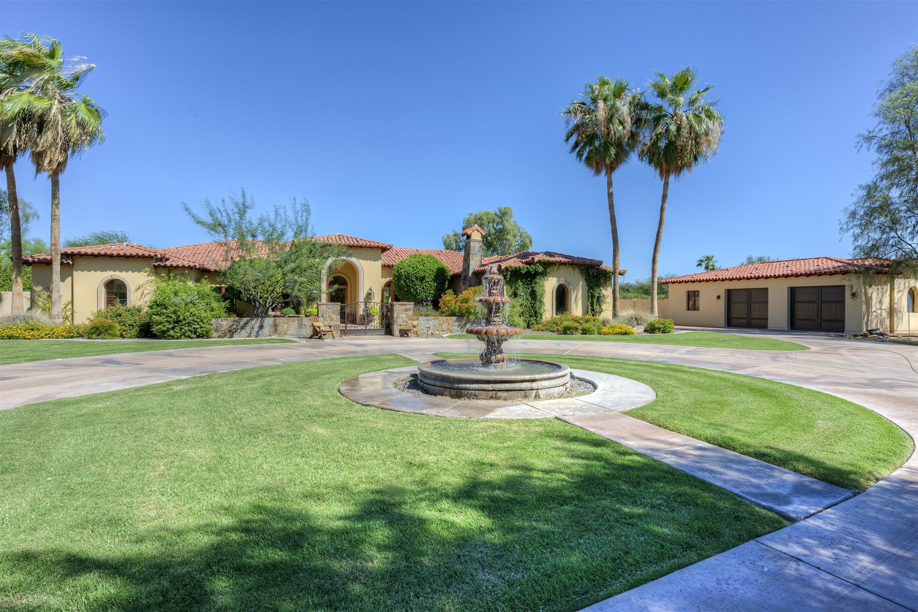 rentals property at Beautiful home with a gated driveway leading to a private cul-de-sac