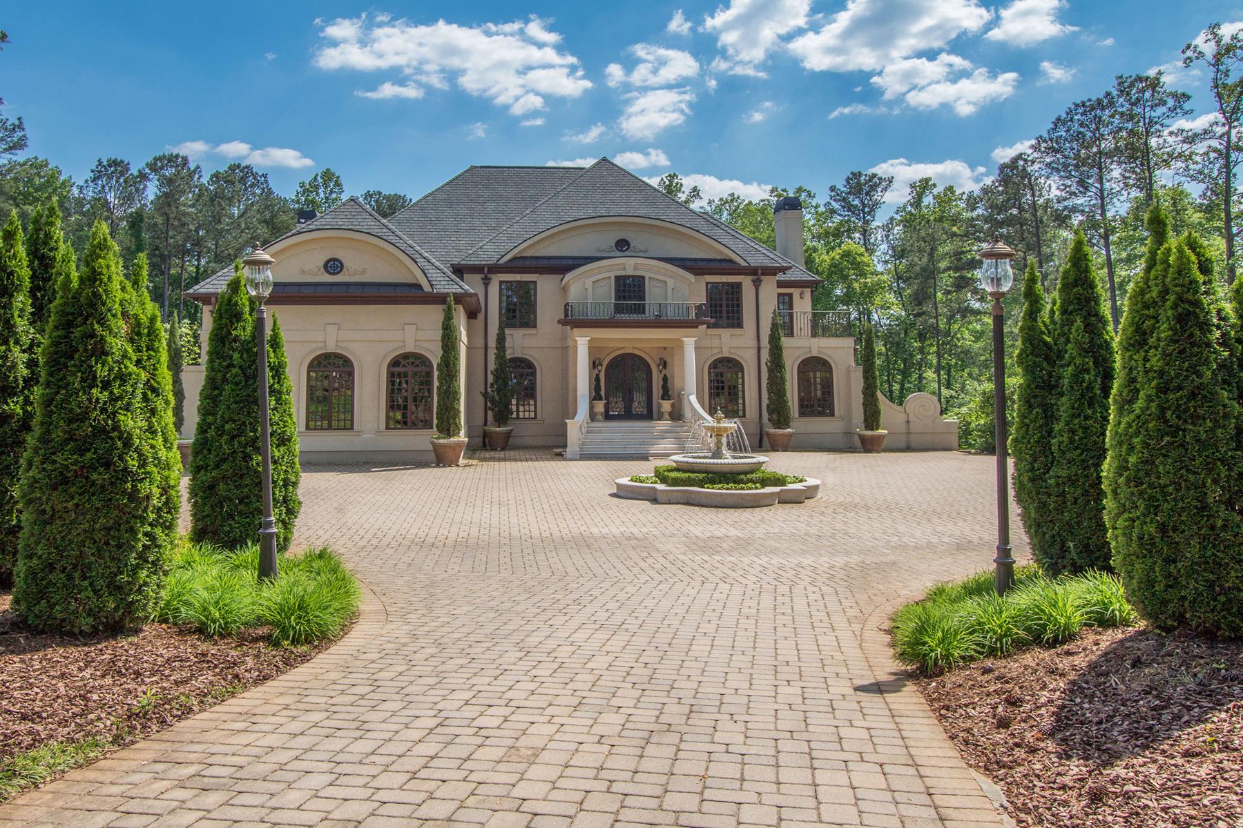 Villa per Vendita alle ore Stunning Mediterranean Style Estate 20 Allatoona Estates Drive SE Acworth, Georgia, 30102 Stati Uniti
