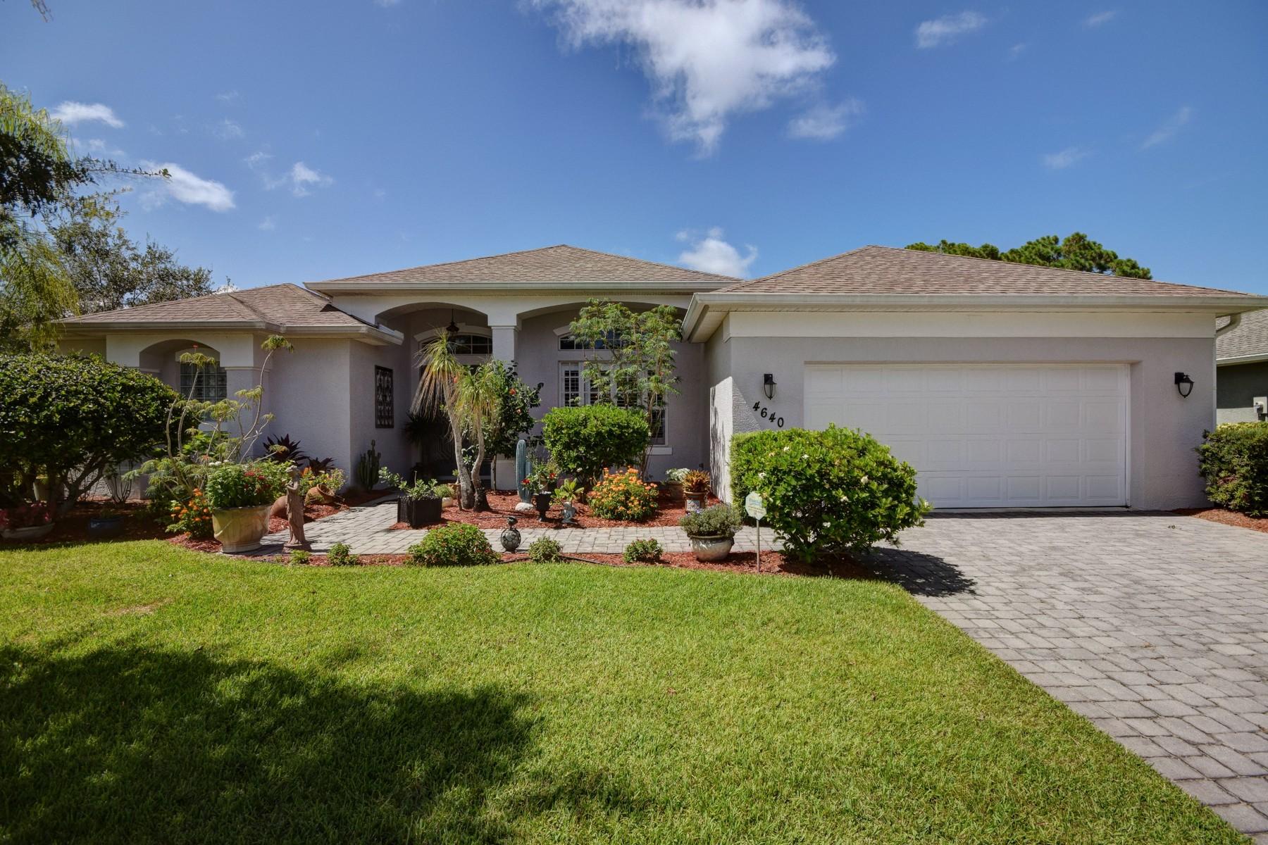단독 가정 주택 용 매매 에 Elegant home in Legend Lakes 4640 Josephine Manor SW Vero Beach, 플로리다 32968 미국