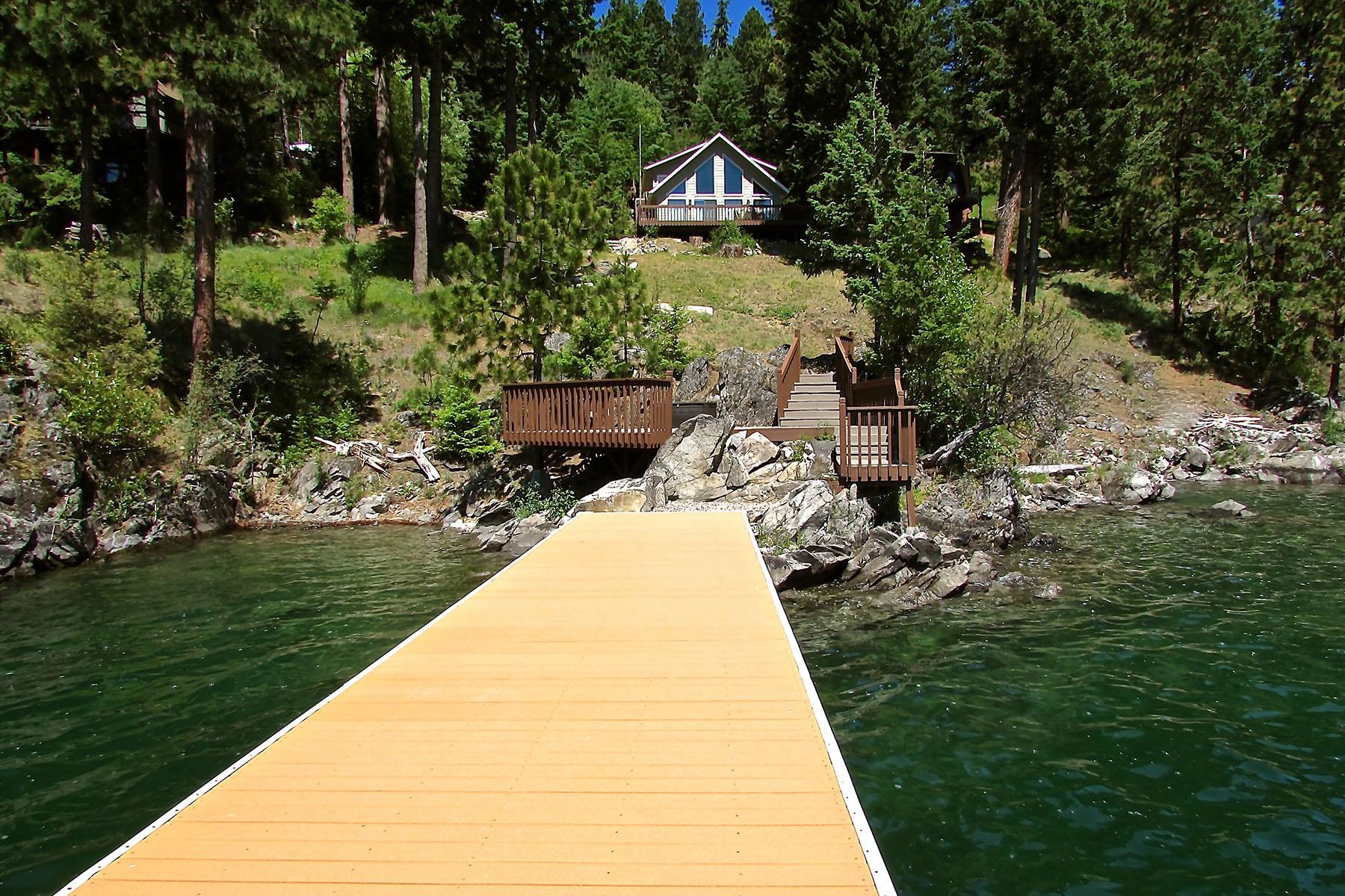 Maison unifamiliale pour l Vente à Magnificent Lakeviews- Private Waterfront 68 GRANDVIEW LN Bayview, Idaho 83803 États-Unis
