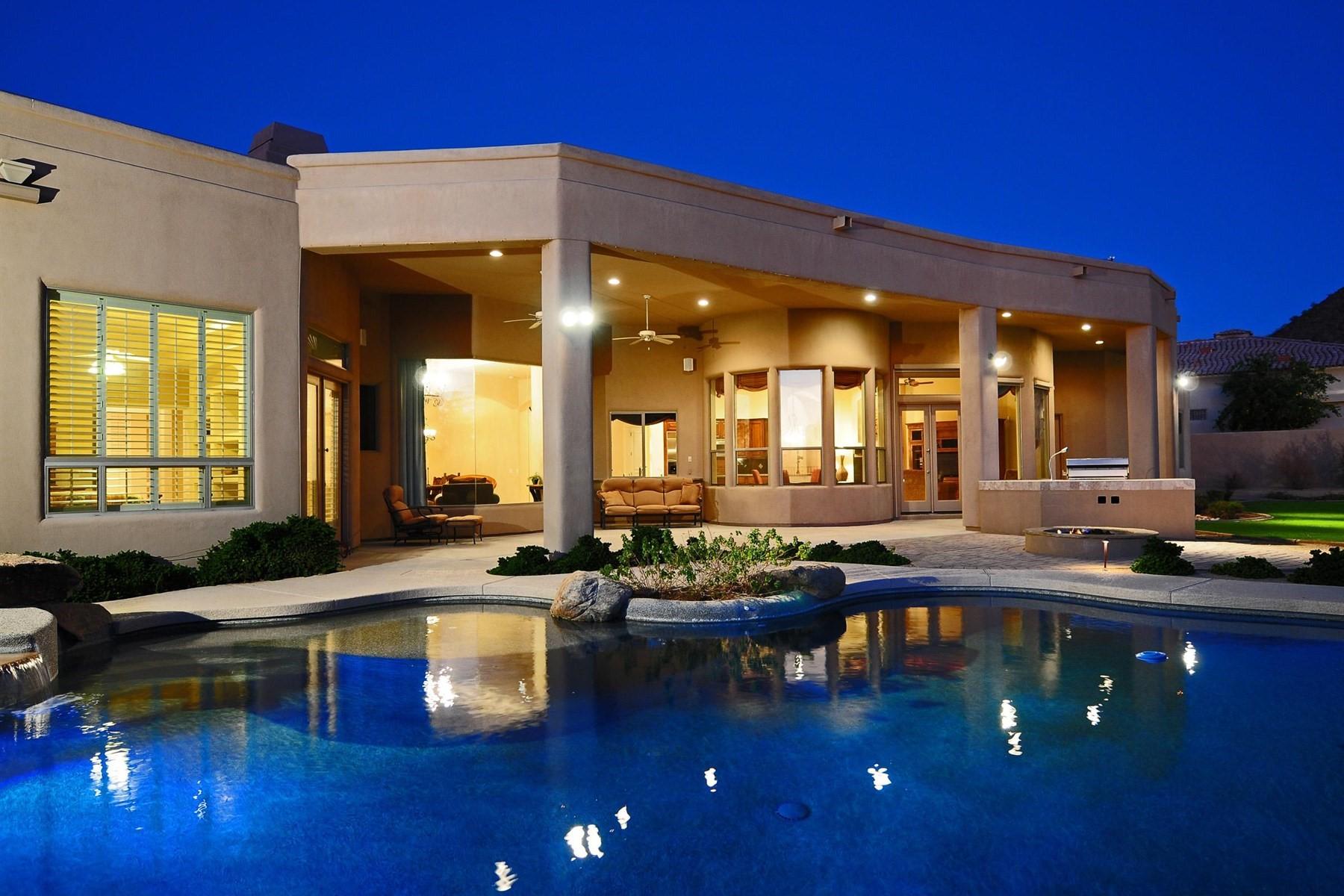 Частный односемейный дом для того Продажа на Stunning custom home on the best lot in Sonora Vista 13331 E Gold Dust Ave Scottsdale, Аризона, 85259 Соединенные Штаты