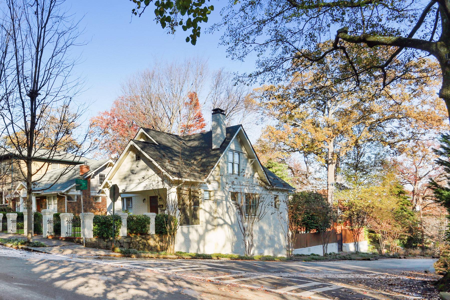 Single Family Home for Active at Prettiest Craftsman Bungalow in Piedmont Park 855 Argonne Avenue NE Atlanta, Georgia 30308 United States