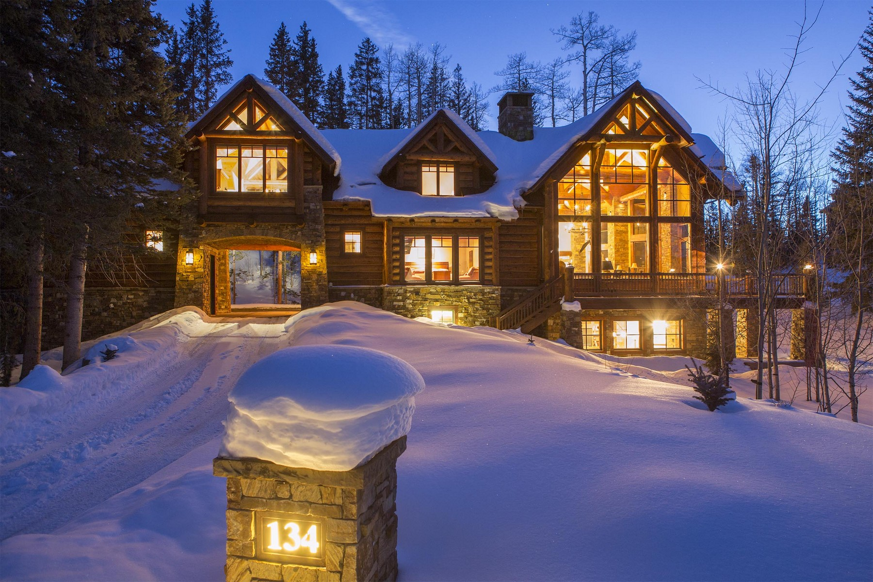 Maison unifamiliale pour l Vente à 134 High Country Road Telluride, Colorado 81435 États-Unis