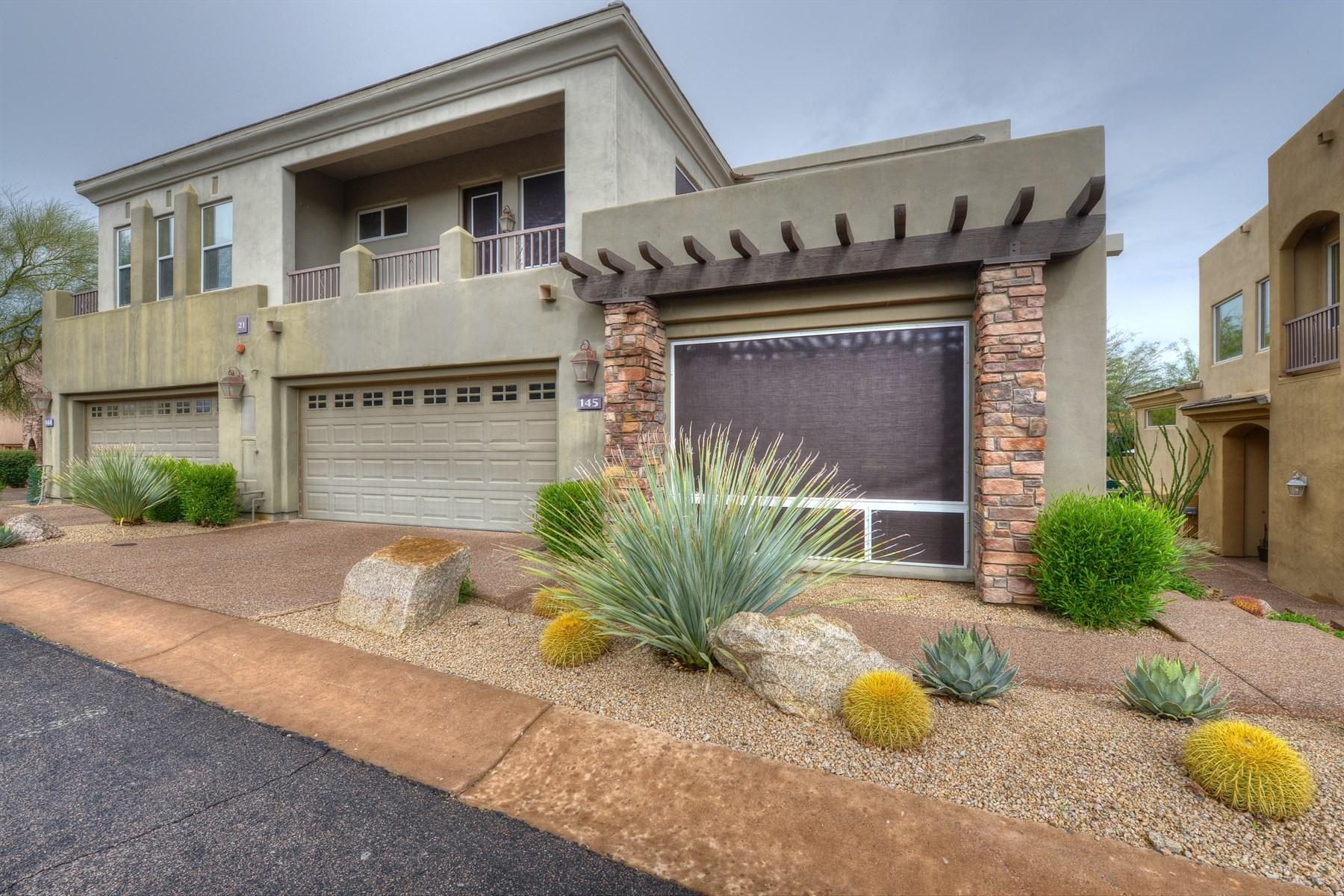多棟聯建住宅 為 出售 在 Luxury Townhome In Prestigious Troon North Stonedge Gated Golf Community 28990 N White Feather Lane #145 Scottsdale, 亞利桑那州 85262 美國