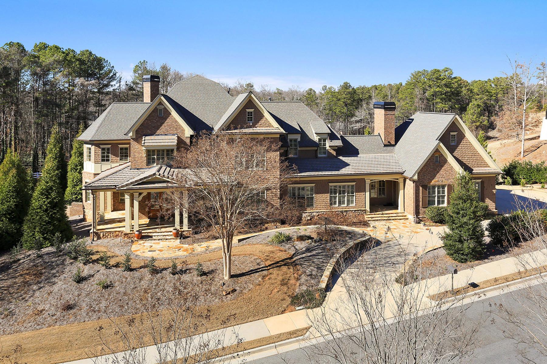 Частный односемейный дом для того Продажа на Stunning Home On Resort-Like Setting 5128 Pindos Pass Powder Springs, Джорджия, 30127 Соединенные Штаты
