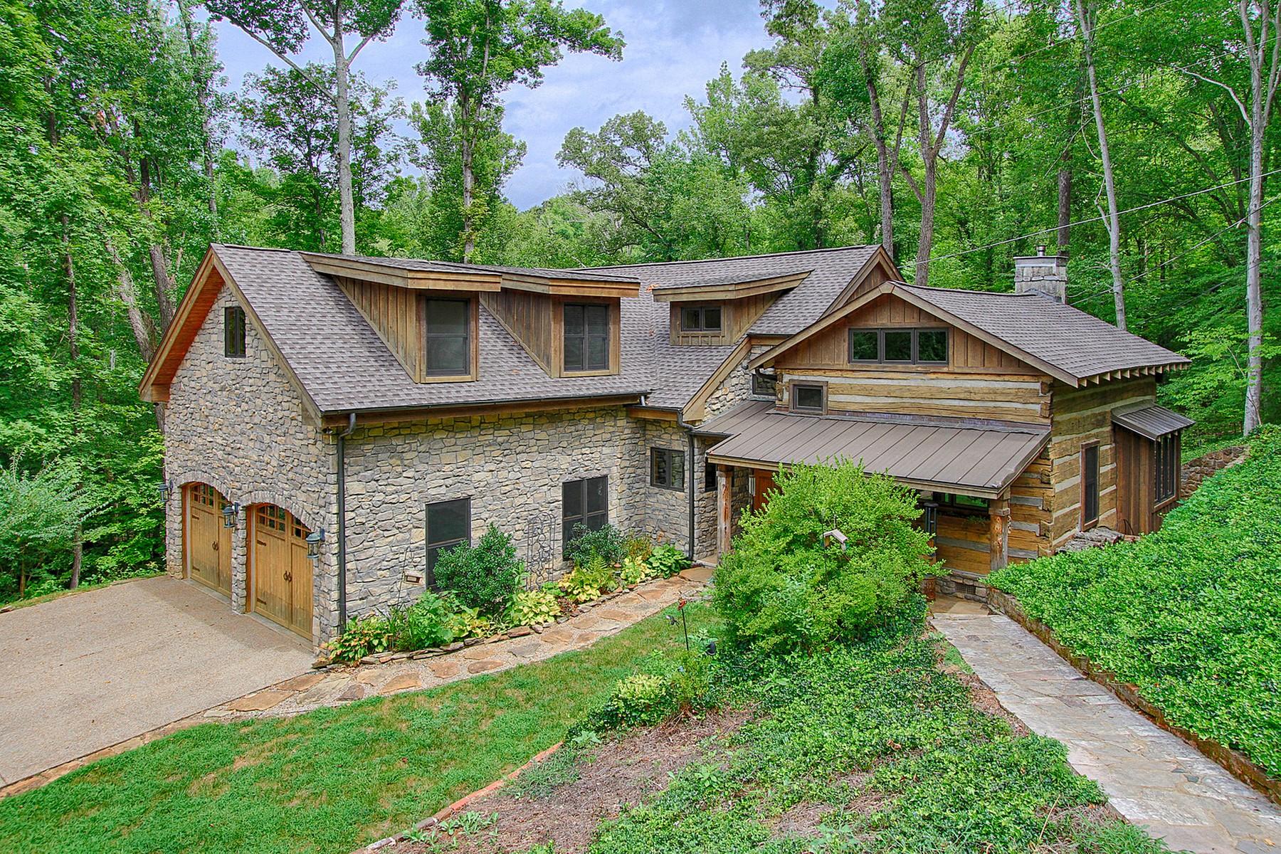 一戸建て のために 売買 アット Historic Hand-Hewn Log Cabin 4416 Topside Road Knoxville, テネシー 37920 アメリカ合衆国