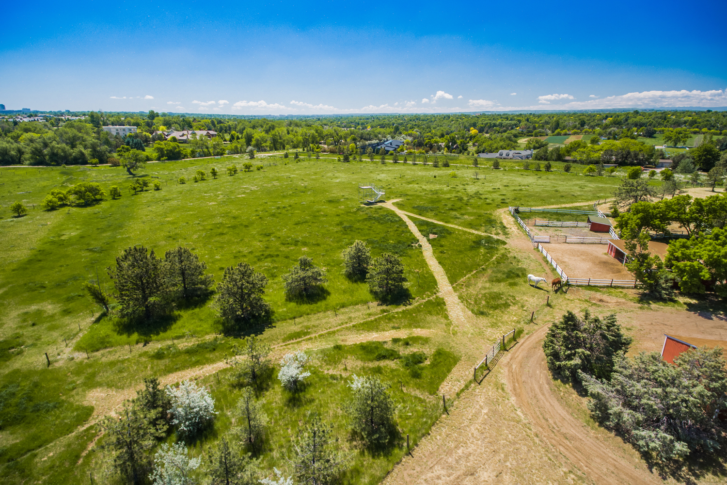 Land for Active at Greenwood Village's Most Admired Horse Property 5550 S Steele St Greenwood Village, Colorado 80121 United States