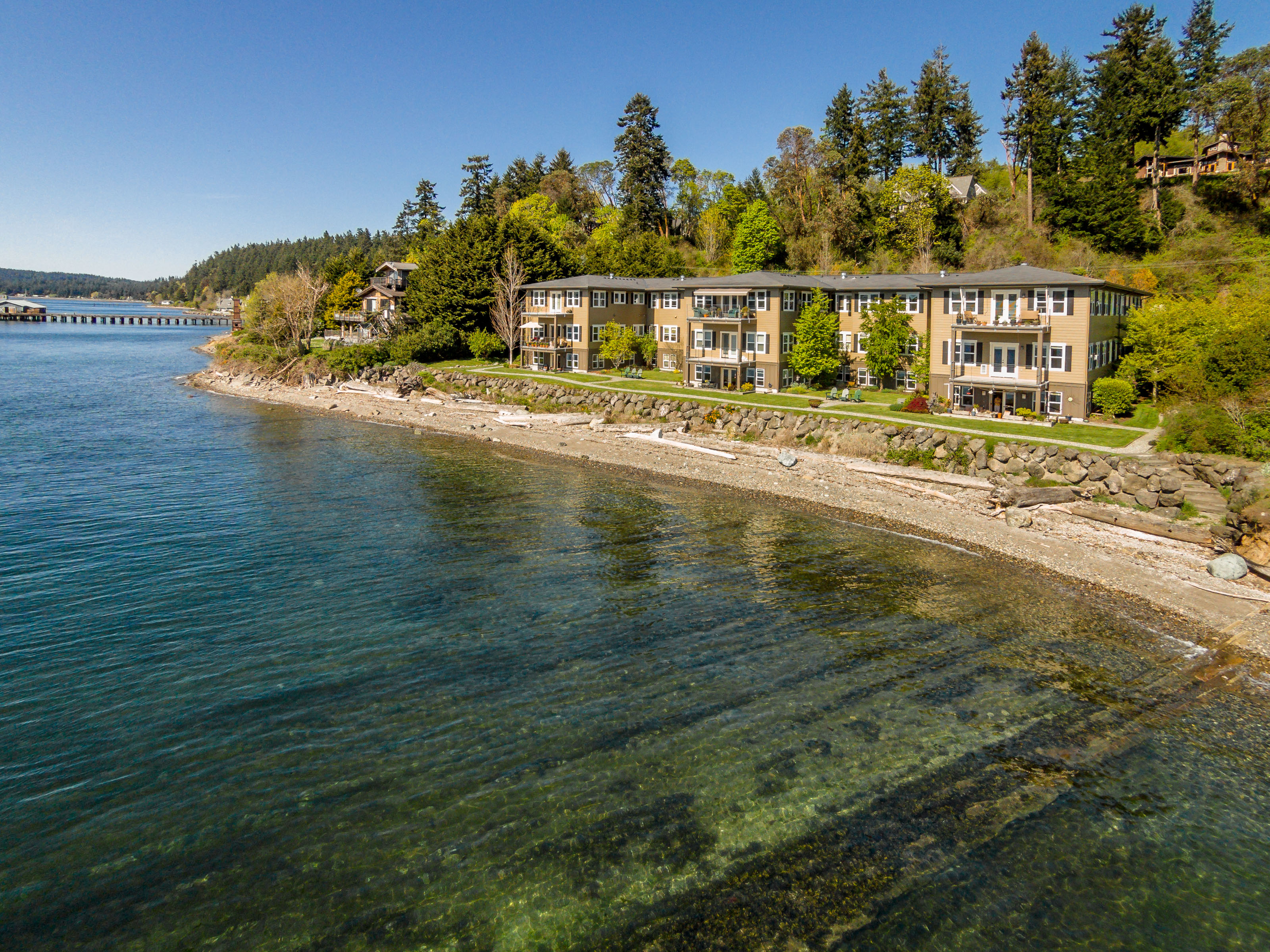Single Family Home for Sale at Waterfront Condo 9551 NE South Beach Rd #3D Bainbridge Island, Washington 98110 United States