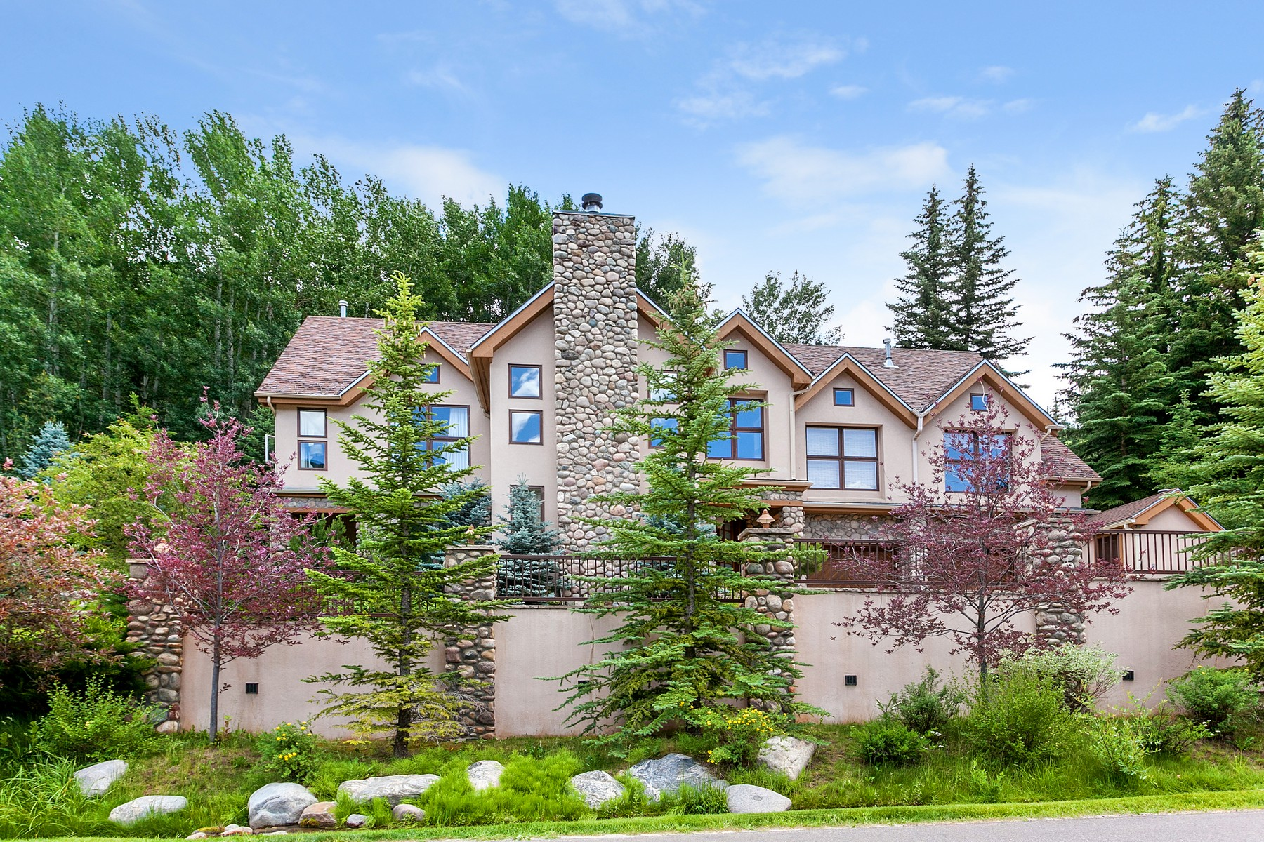 Single Family Home for Sale at Custom Single Family with Hiking Out Your Back Door 1968 Vermont Road Vail, Colorado, 81657 United States