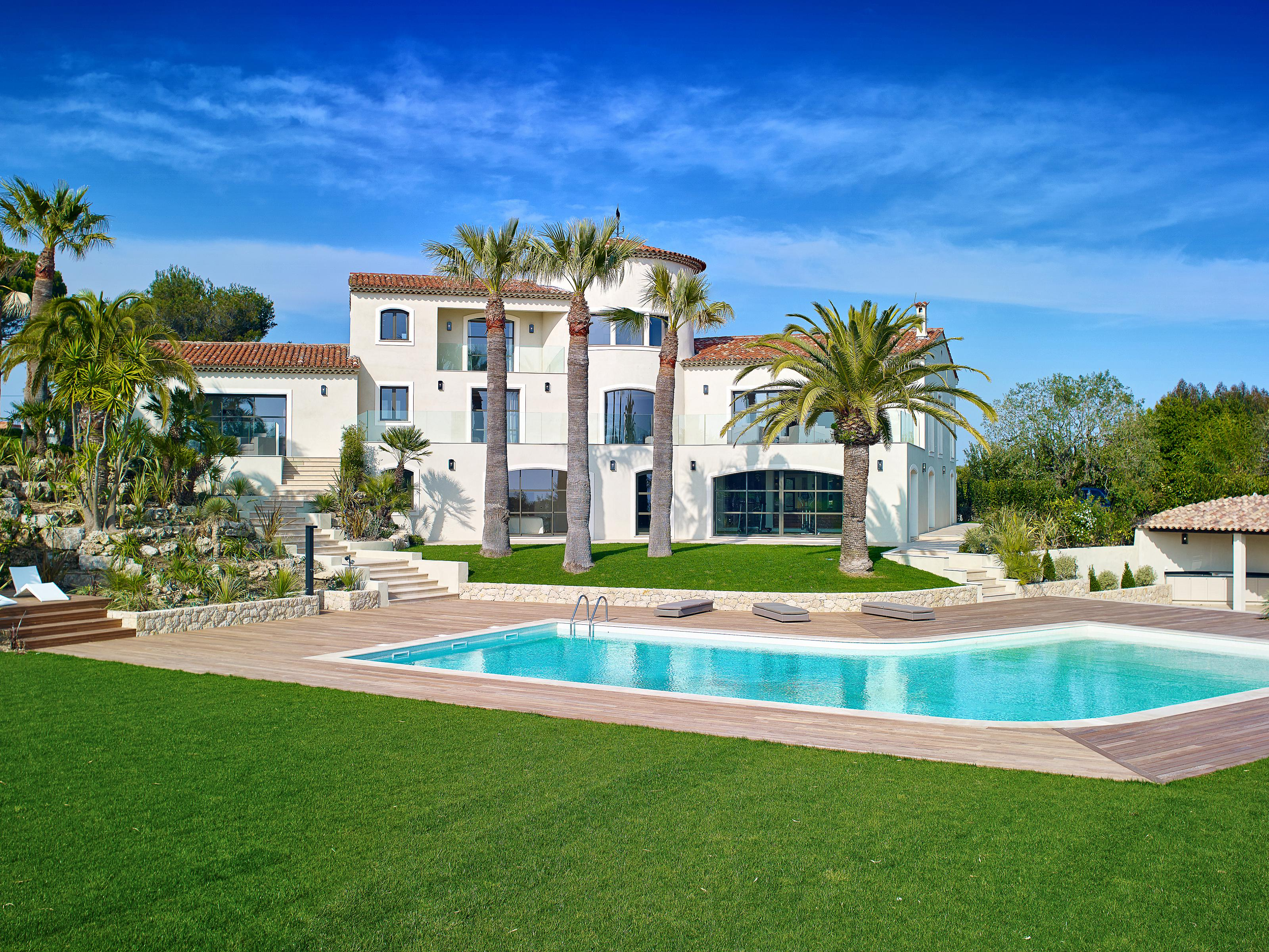 Single Family Home for Sale at New villa with views over the sea and the Lérins Islands Cannes Cannes, Provence-Alpes-Cote D'Azur 06400 France