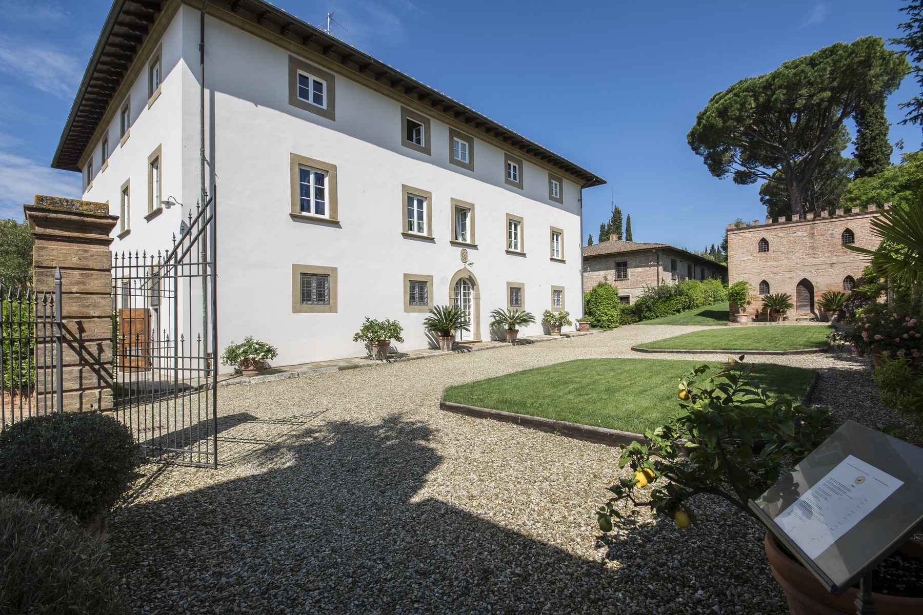 Single Family Home for Sale at Breathtaking Tuscan estate with pool and tennis court Peccioli, Pisa Italy